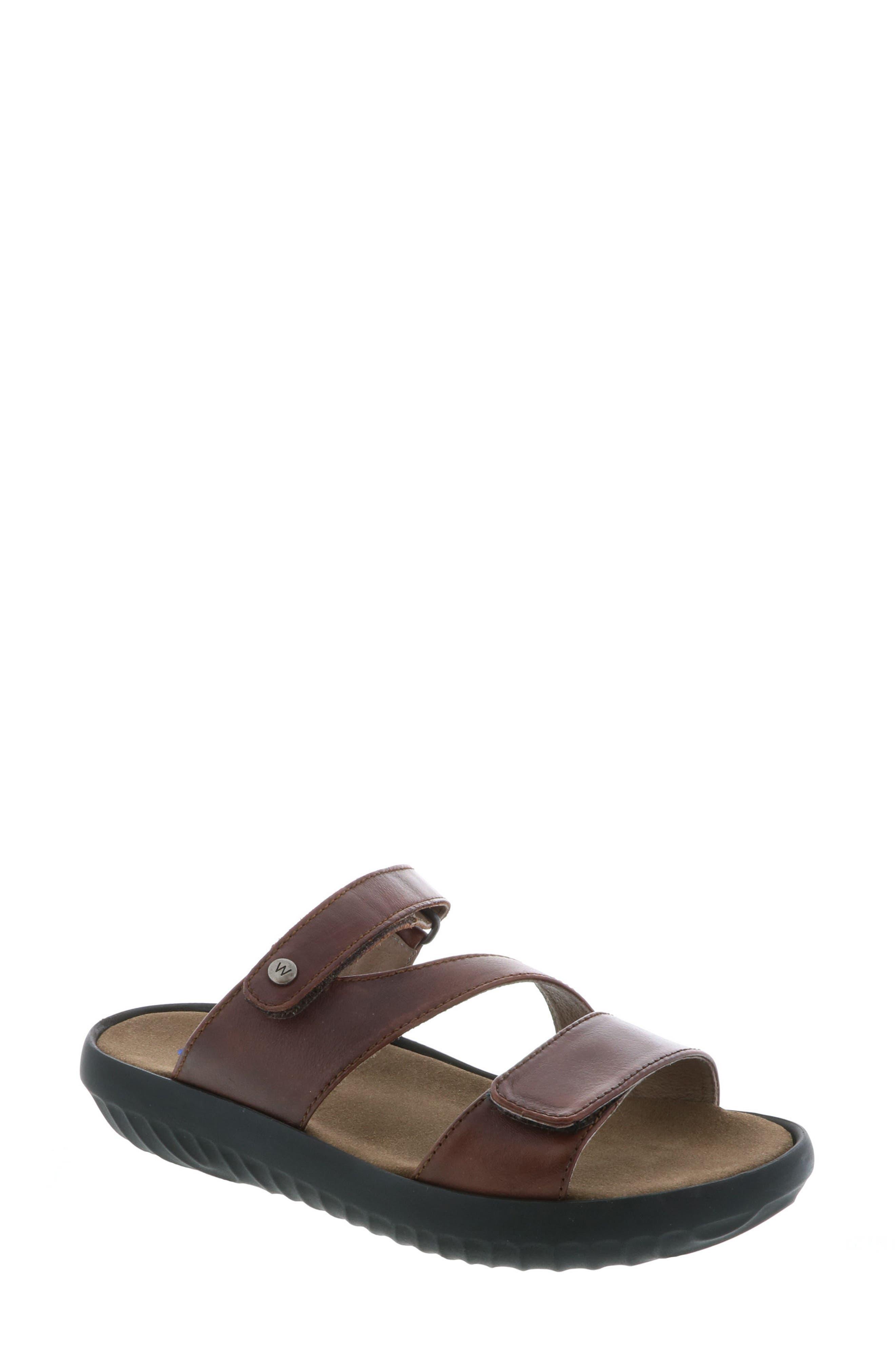 Sense Slide Sandal,                         Main,                         color, Cognac