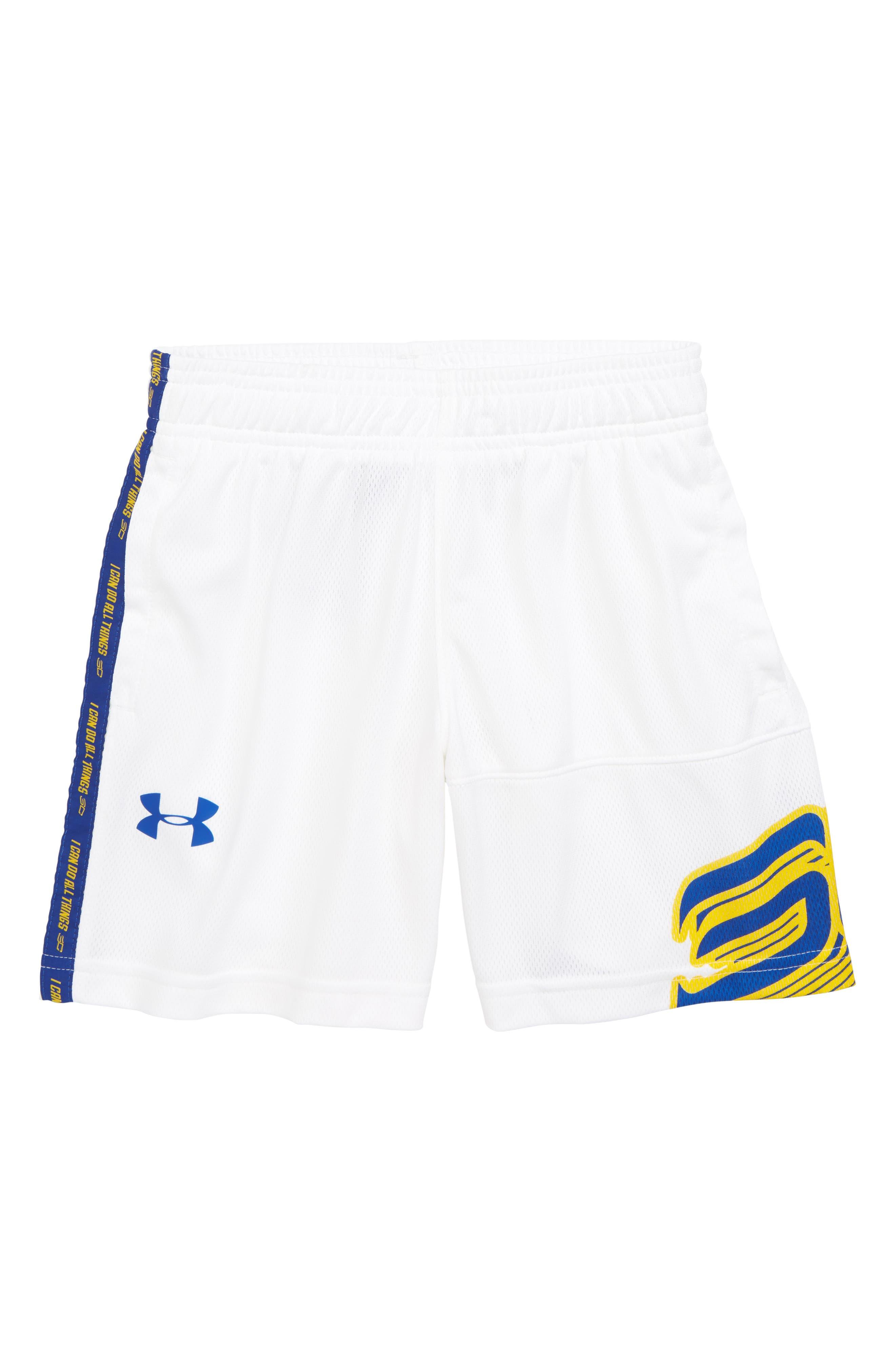 SC30 Basketball Shorts,                             Main thumbnail 1, color,                             White/ Royal