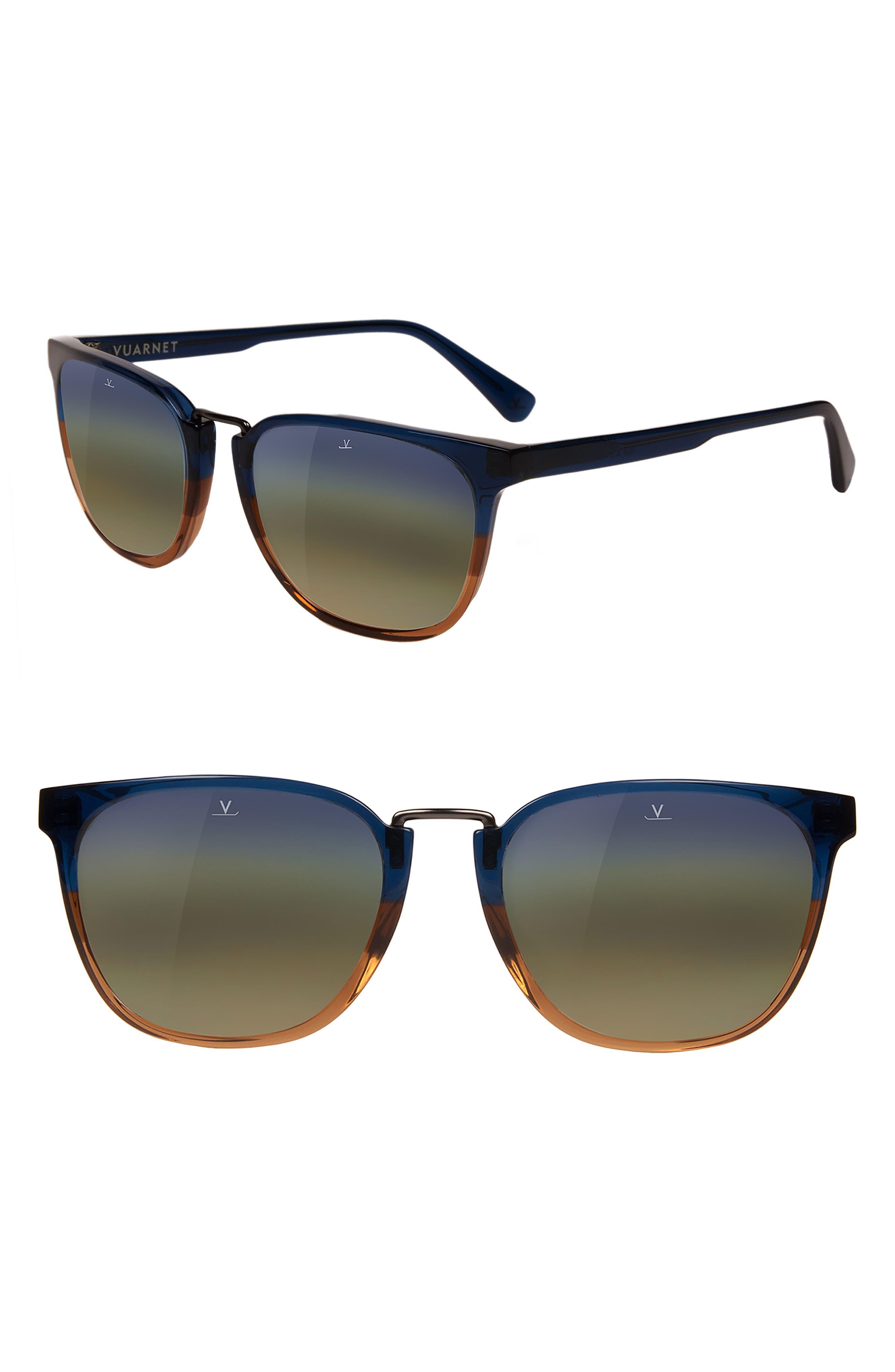 Cable Car 54mm Sunglasses,                             Main thumbnail 1, color,                             Gradient Blue / Gradient Brown