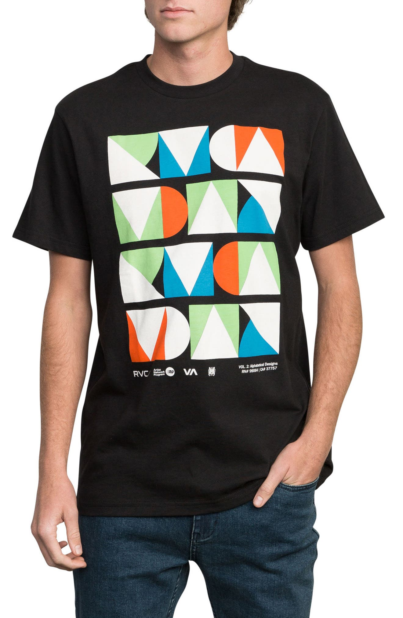 Modern Logo Graphic T-Shirt,                             Main thumbnail 1, color,                             Black
