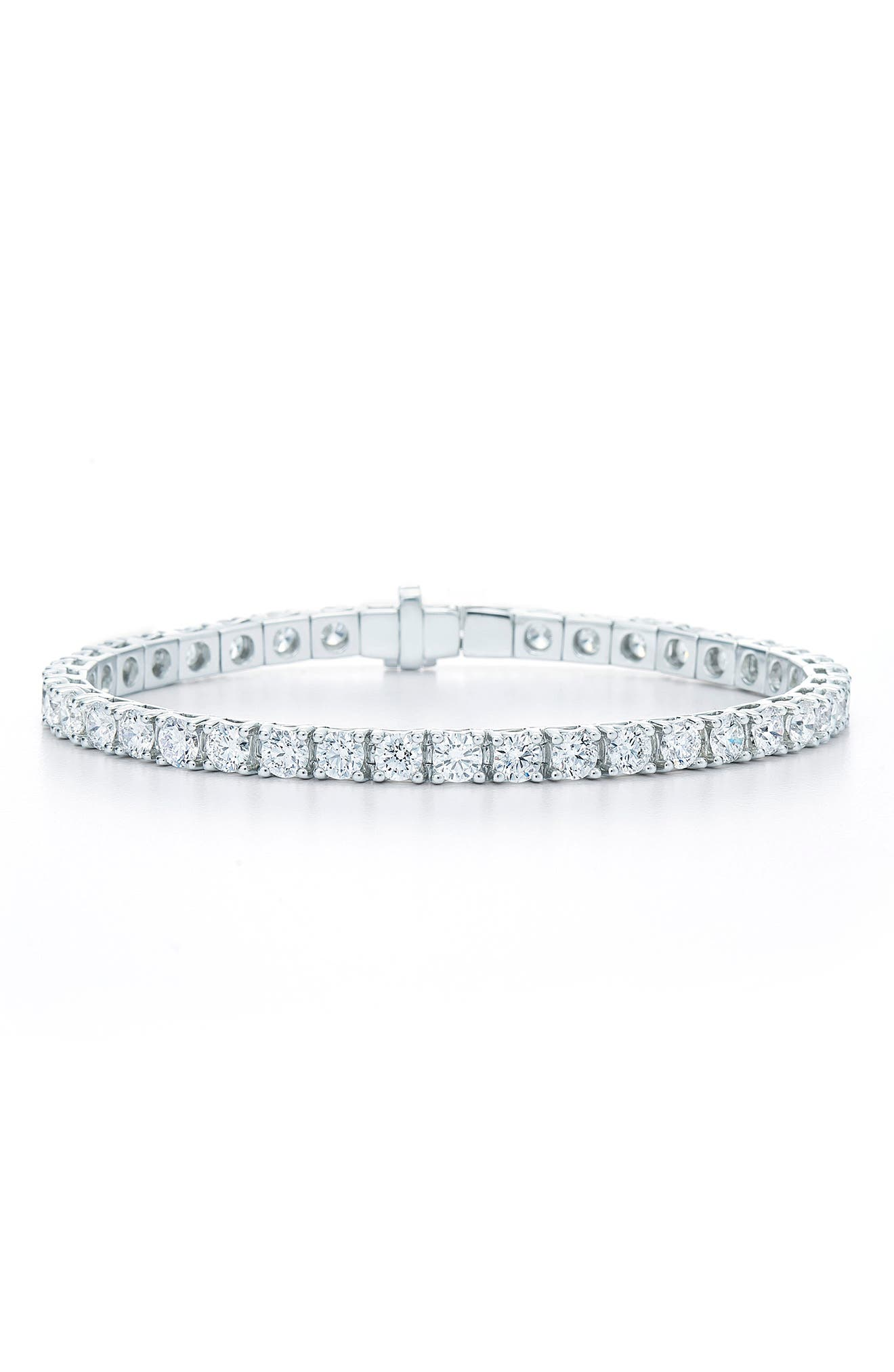 Riviera Diamond Line Bracelet,                             Main thumbnail 1, color,                             White Gold
