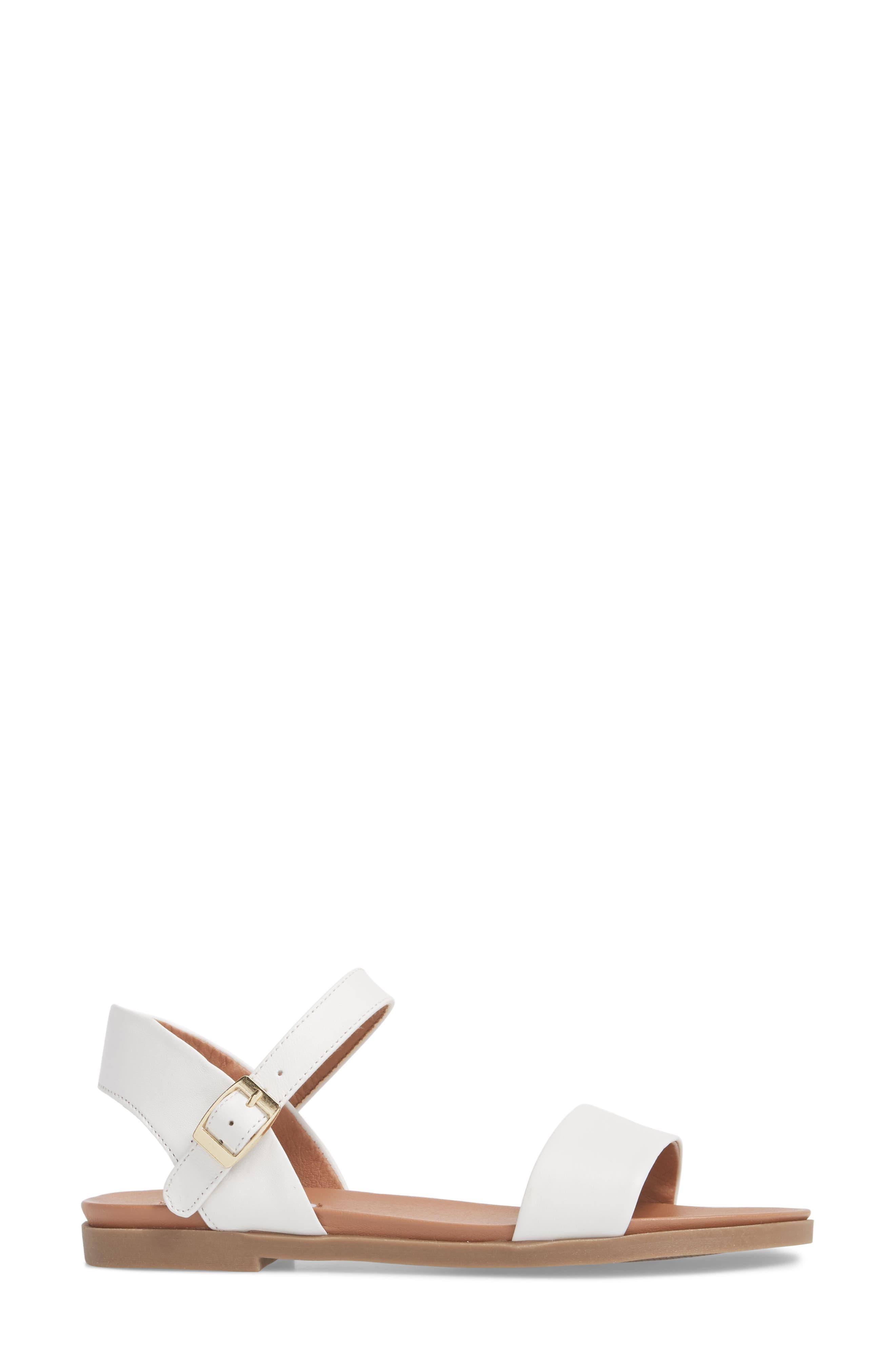 Dina Sandal,                             Alternate thumbnail 3, color,                             White Leather