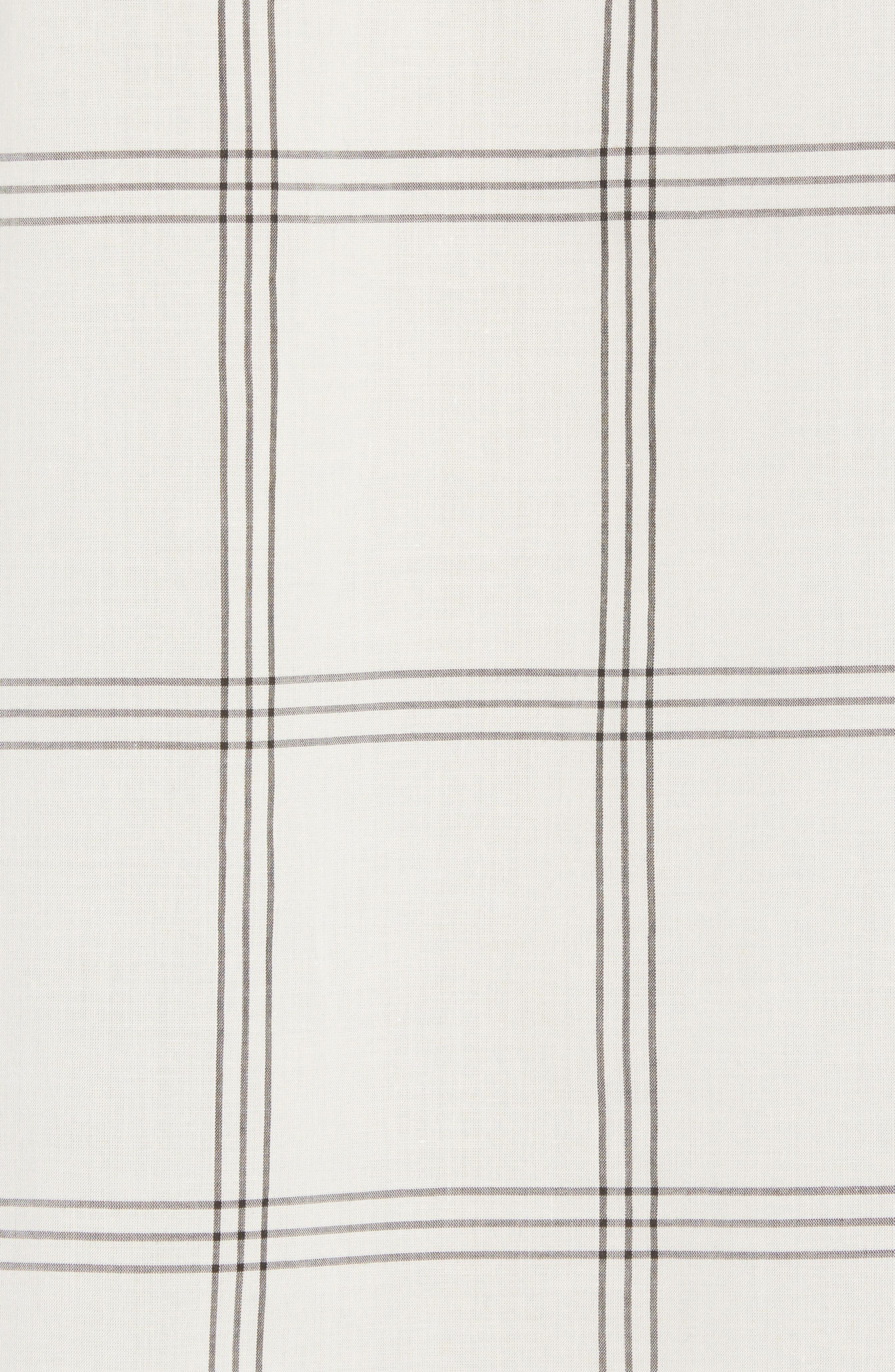 Mickey Windowpane Woven Shirt,                             Alternate thumbnail 5, color,                             White