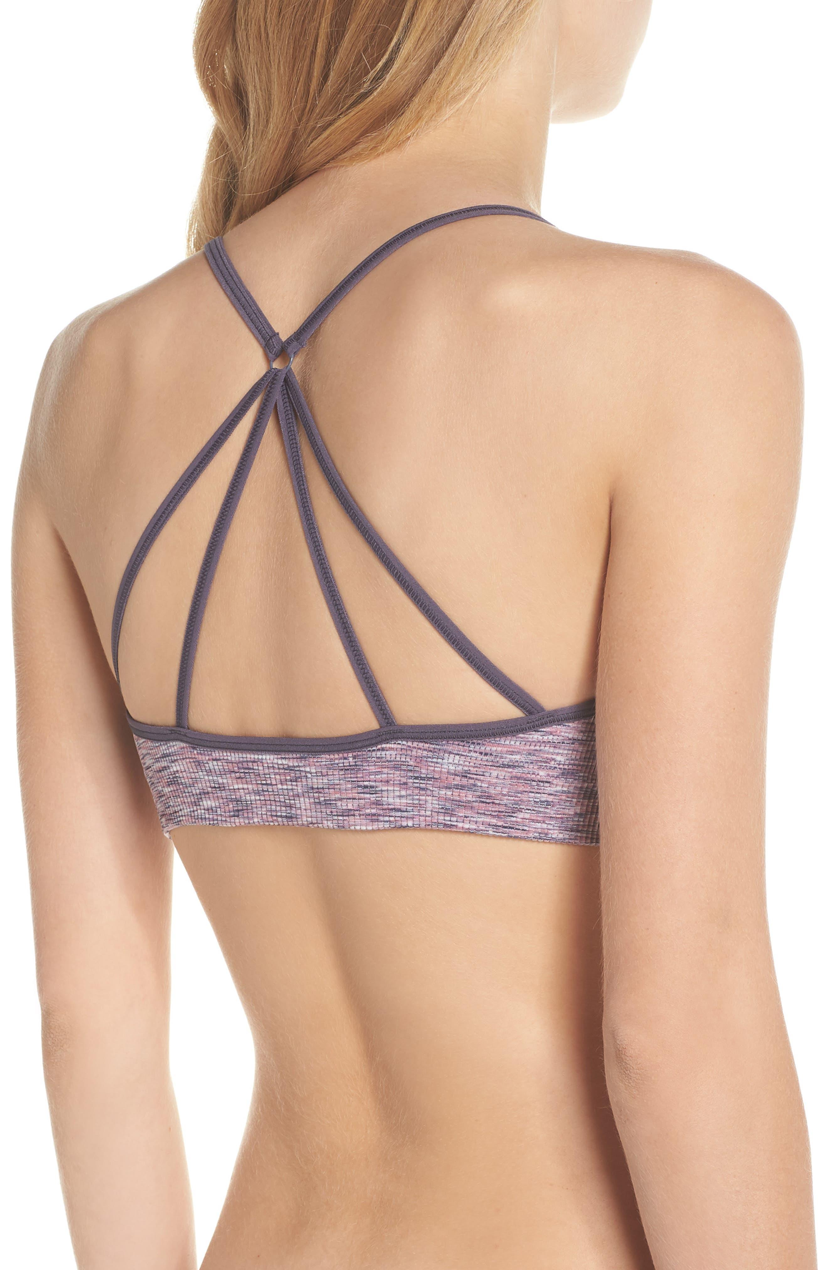 Flex Sports Bra,                             Alternate thumbnail 2, color,                             Purple Fragrant Spacedye