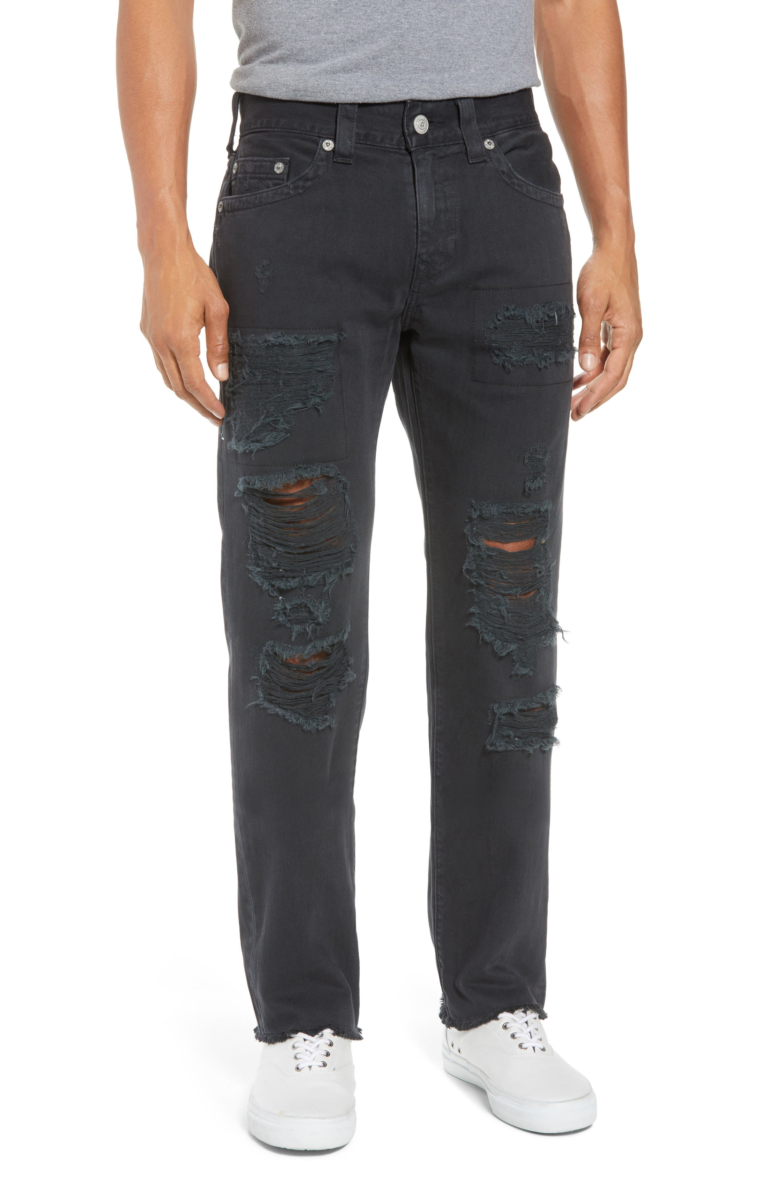 True Religion Brand Jeans Rocco Skinny Fit Jeans (Black Volcanic Ash)