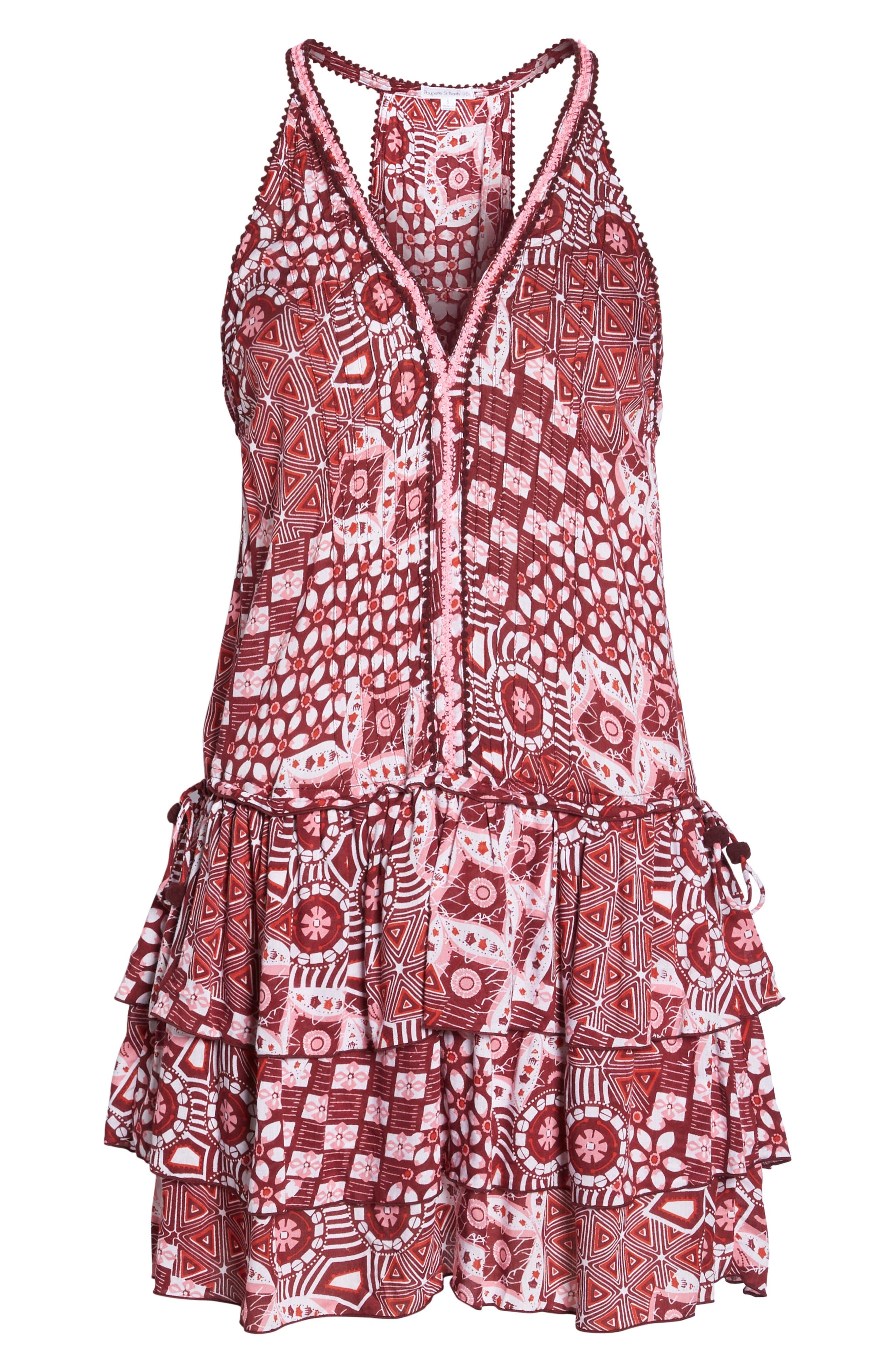 Poupette St. Barth Bety Cover-Up Minidress,                             Alternate thumbnail 6, color,                             Pink Mali