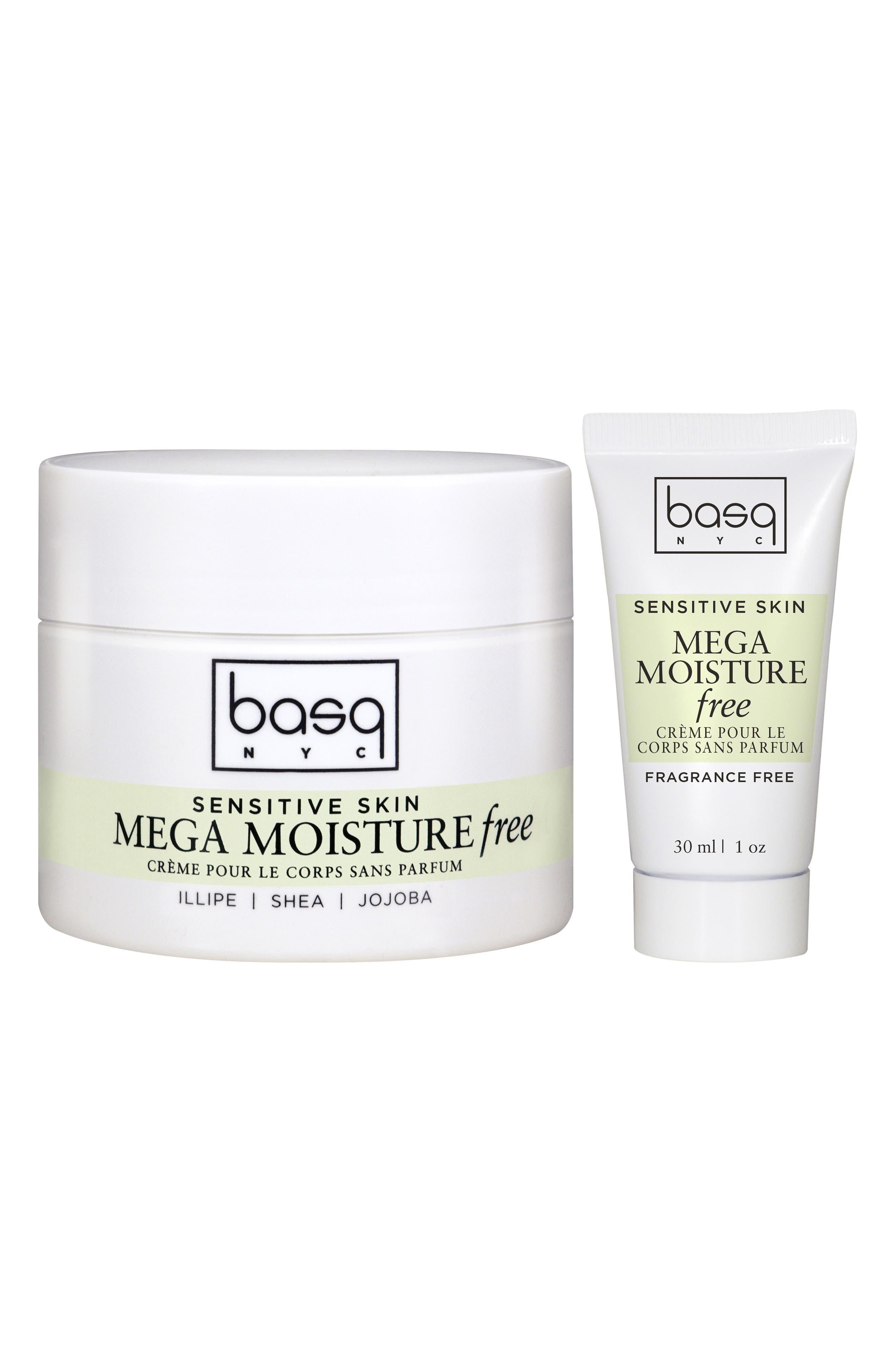 Fragrance Free Mega Moisture Cream Duo,                             Main thumbnail 1, color,                             White