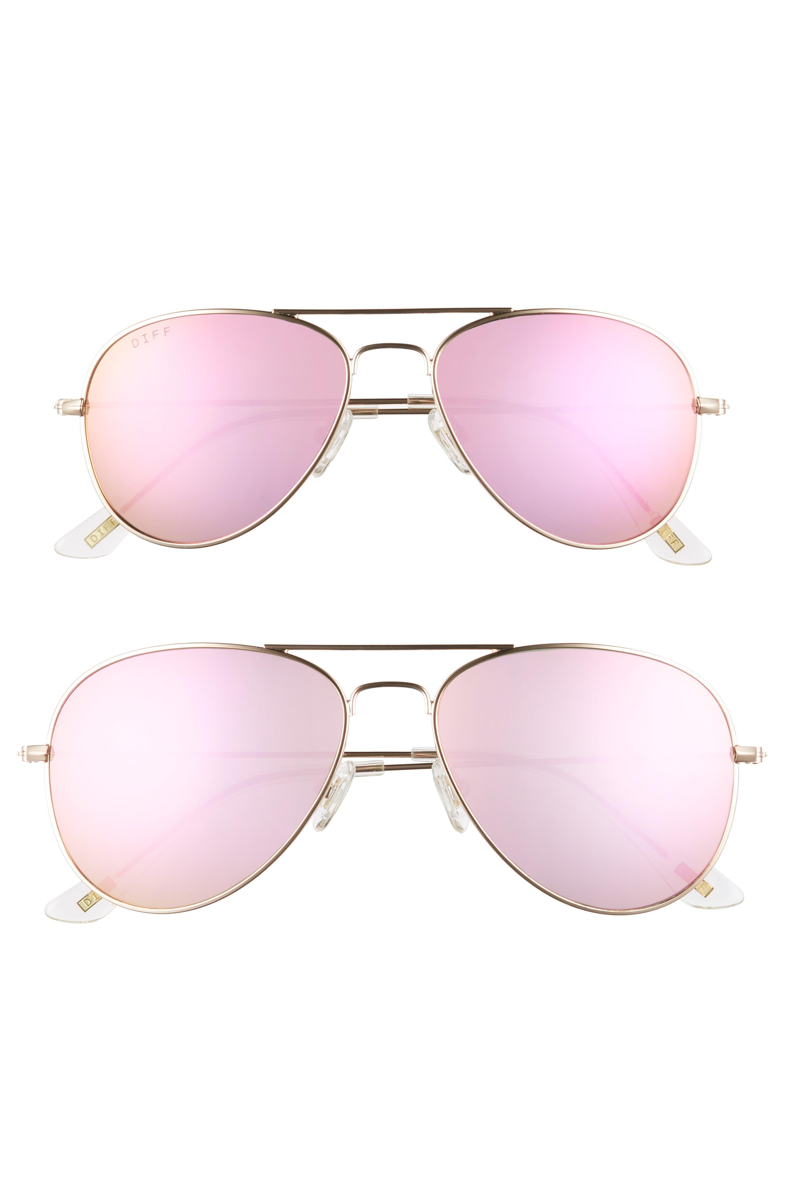 DIFF Mommy & Me Cruz 2-Pack Aviator Sunglasses ($135 Value)