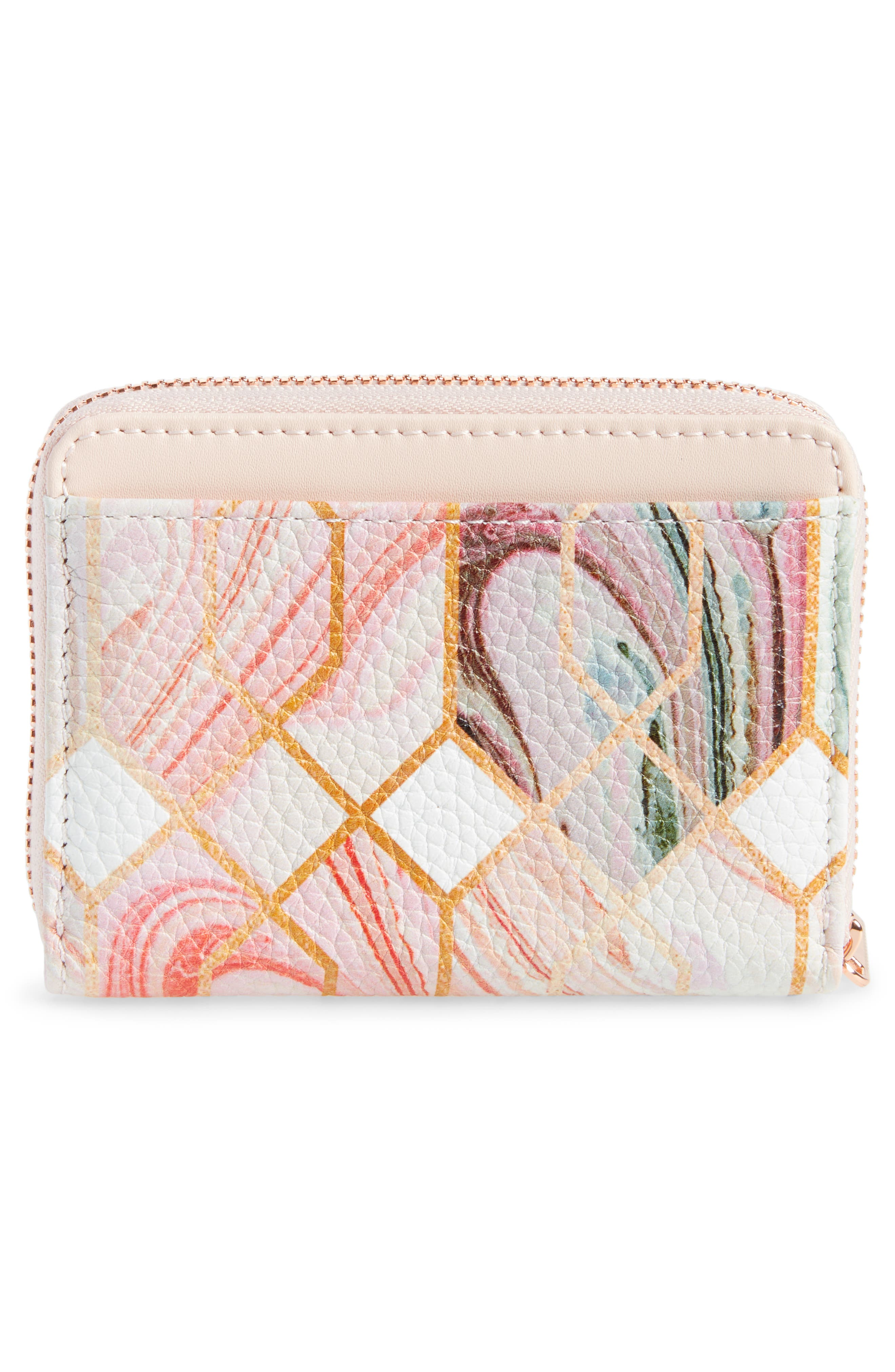 Small Sea of Clouds Coin Purse,                             Alternate thumbnail 4, color,                             White