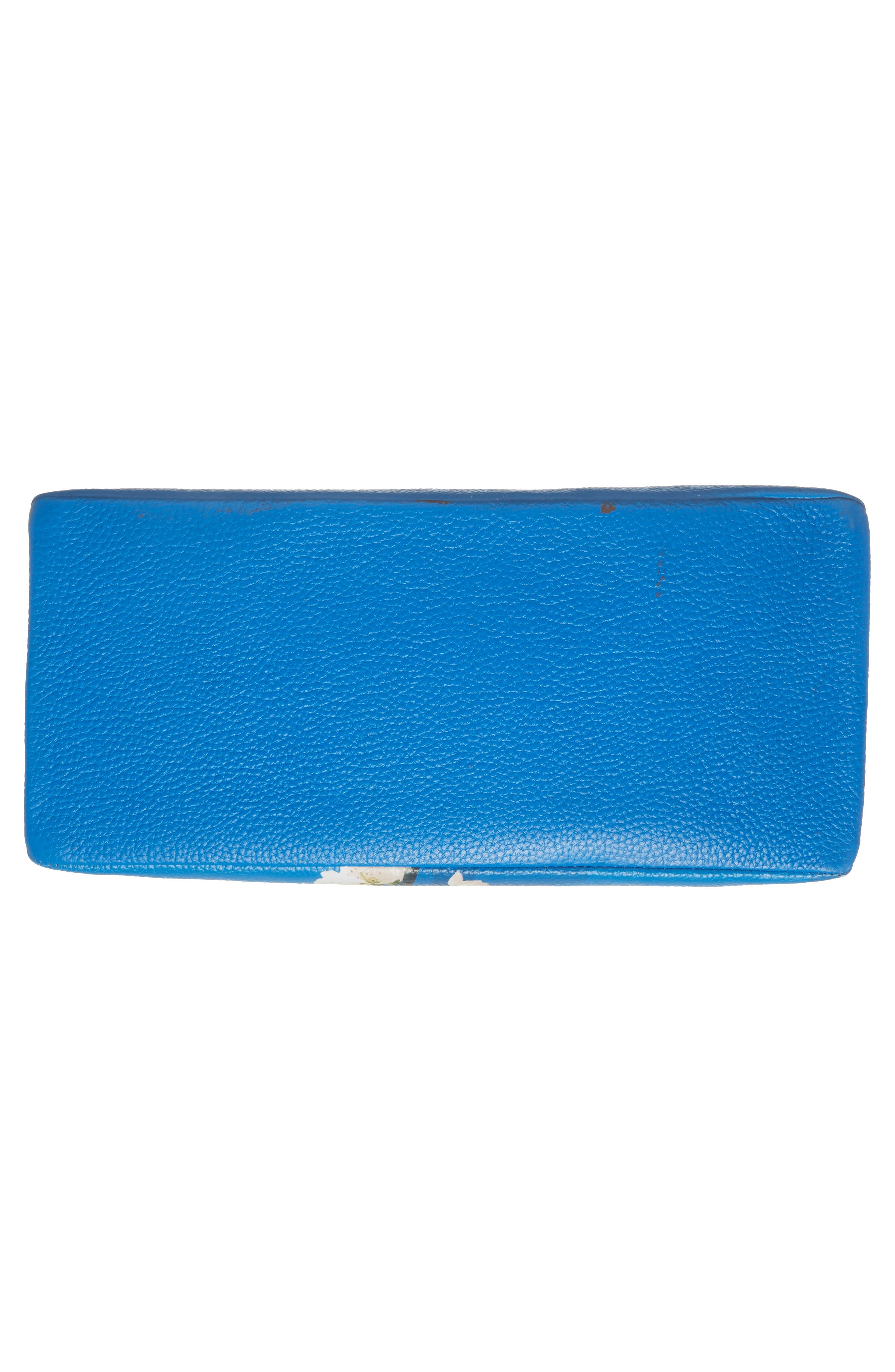 Heeidi Harmony Print Leather Shoulder Bag,                             Alternate thumbnail 5, color,                             Bright Blue