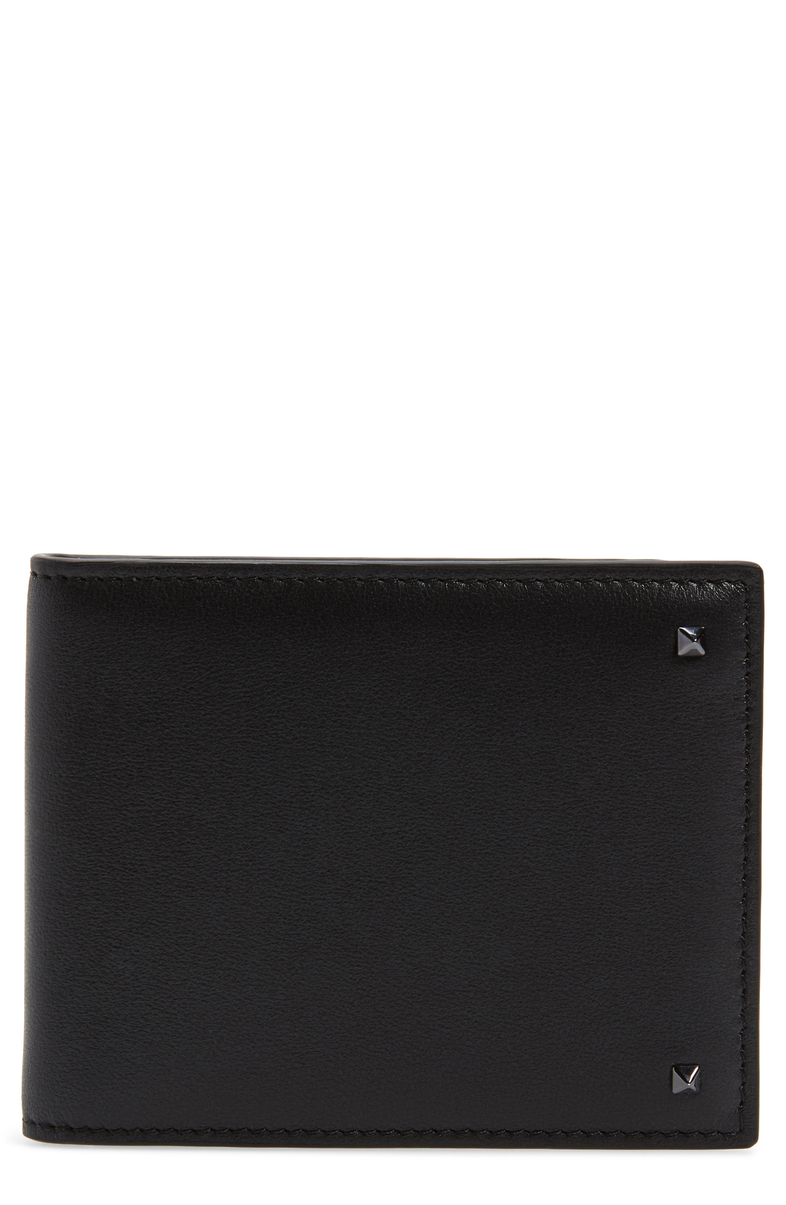 VALENTINO GARAVANI Stud Leather Money Clip Wallet