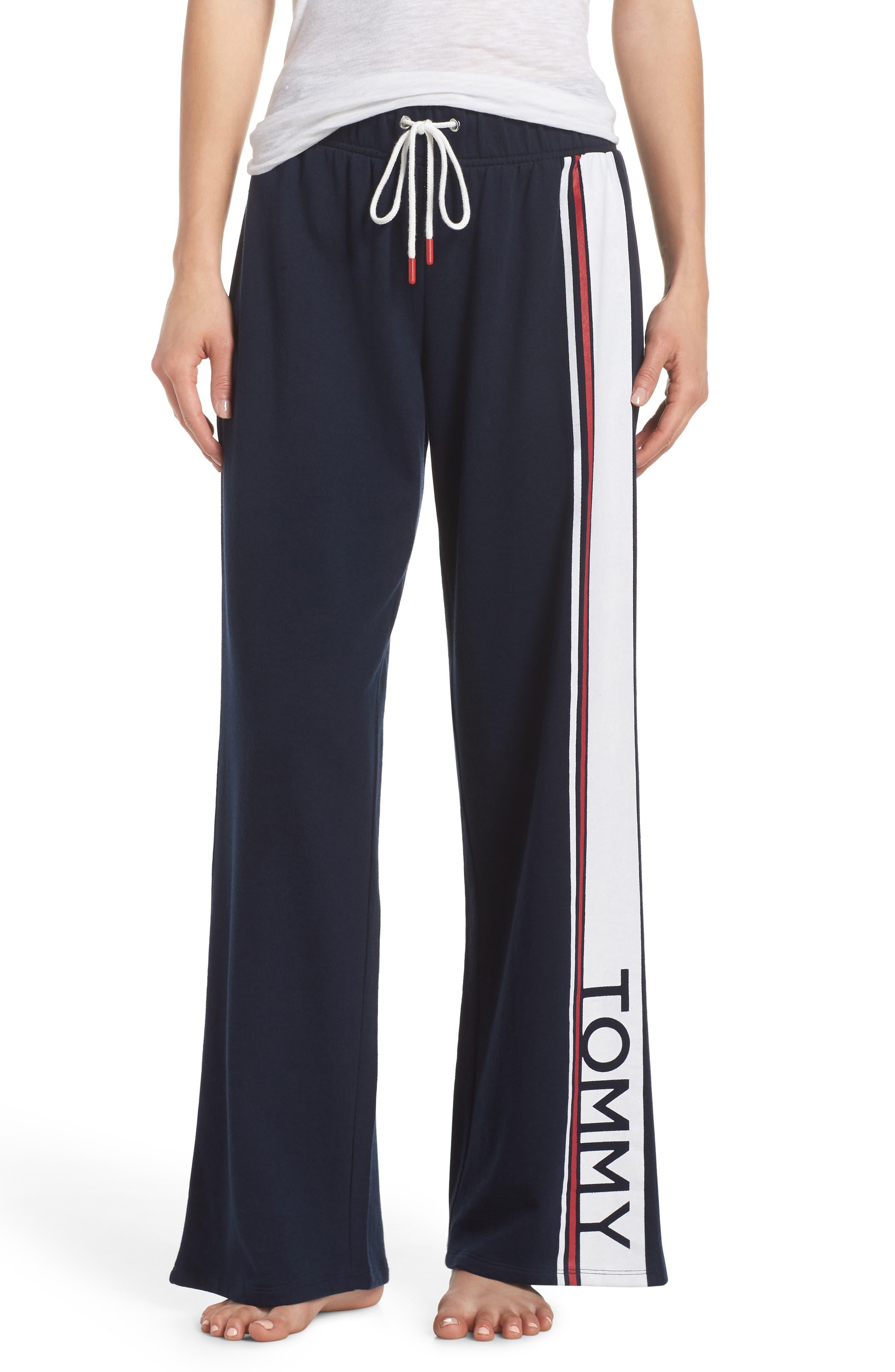 Stripe Lounge Pants,                         Main,                         color, Navy Blazer