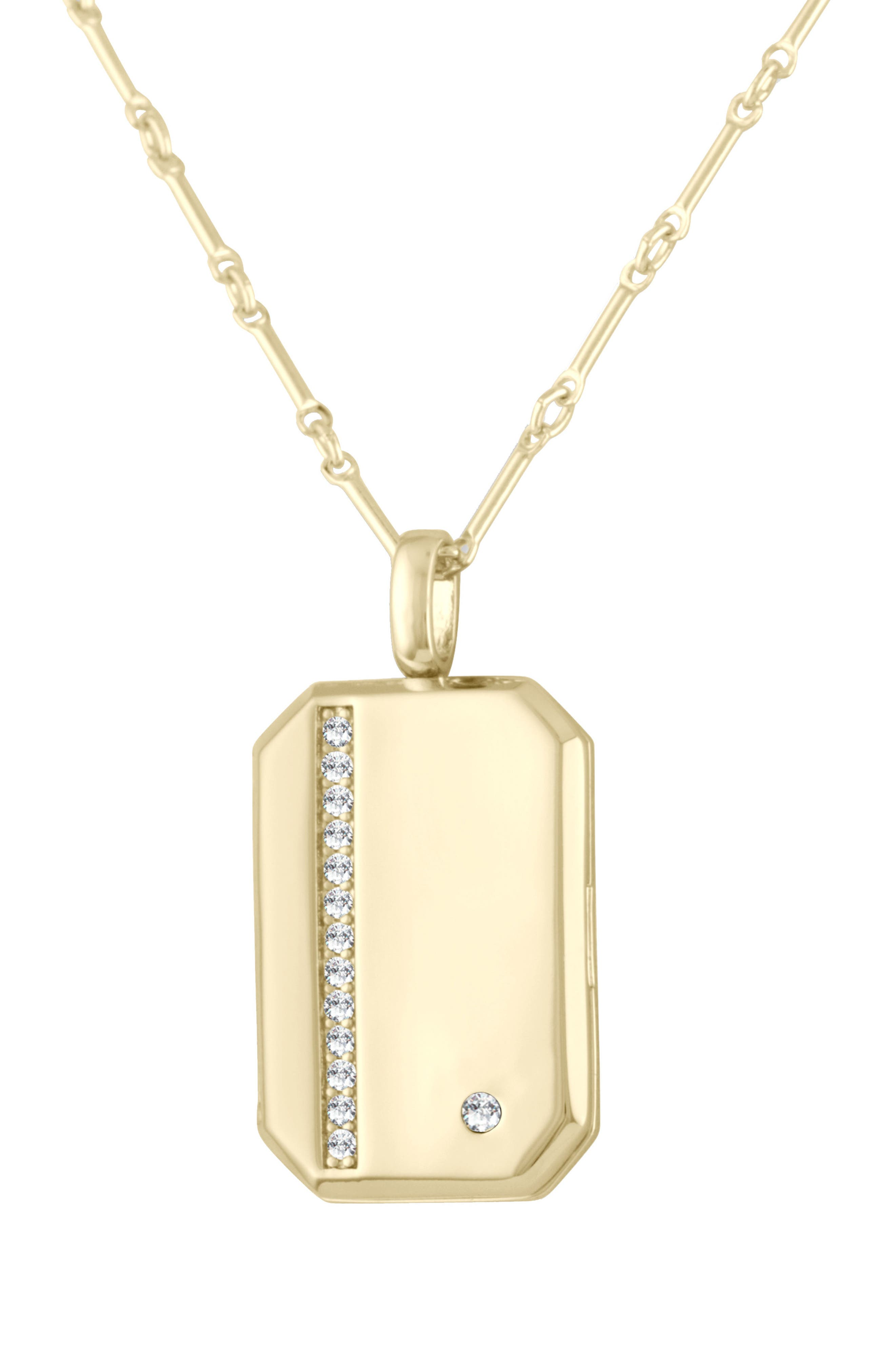 x We Wore What Vertical Crystal Locket Necklace,                         Main,                         color, Gold