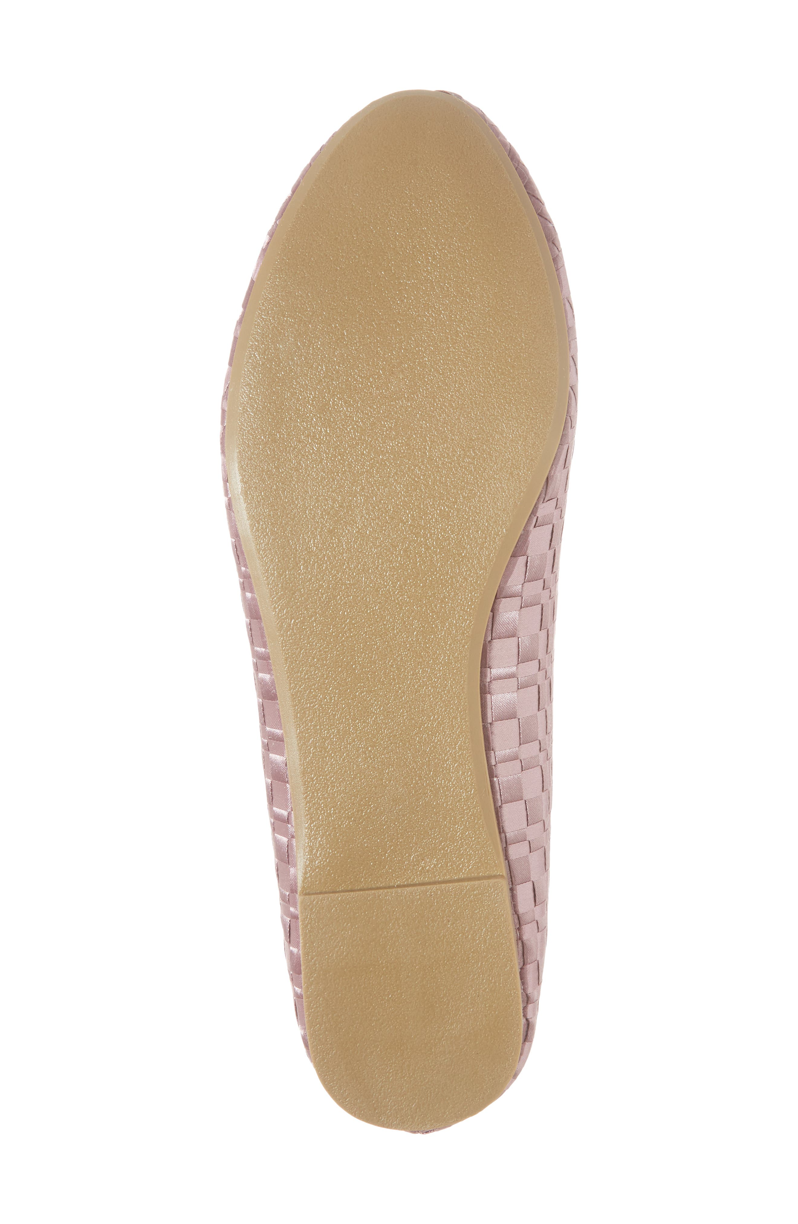 Sasha Textured Woven Loafer,                             Alternate thumbnail 6, color,                             Pink