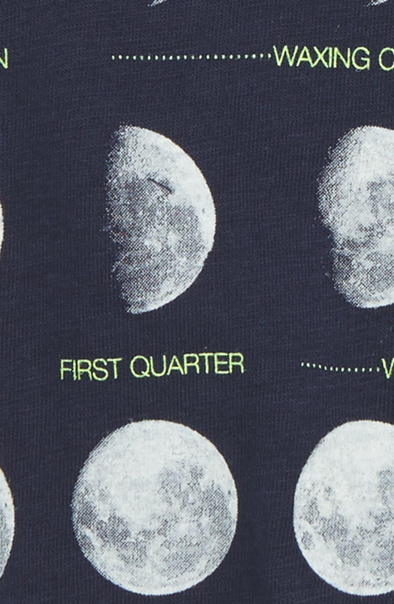 Moons Graphic T-Shirt,                             Alternate thumbnail 2, color,                             Navy