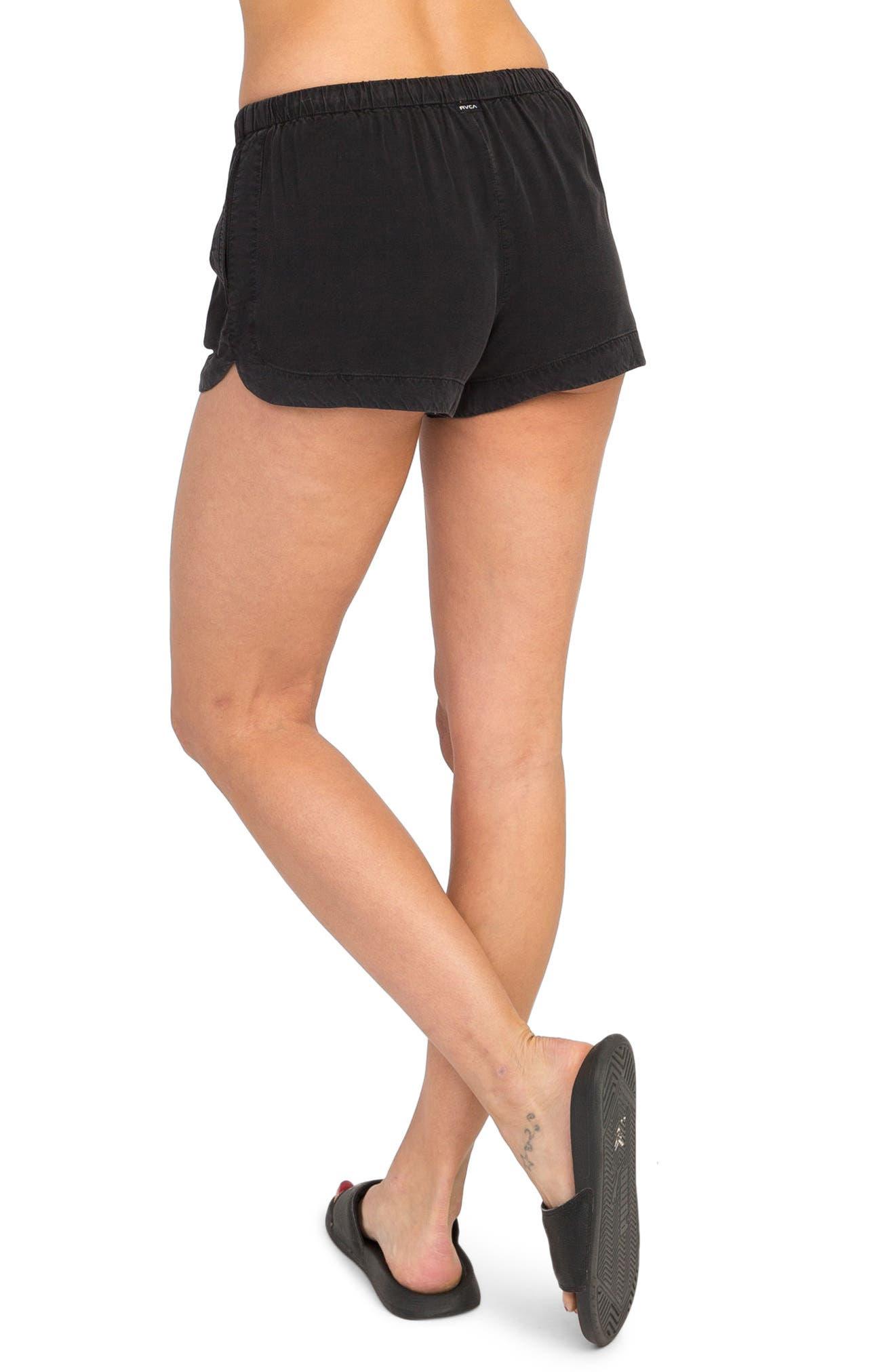 New Yume Dolphin Shorts,                             Alternate thumbnail 4, color,                             Black