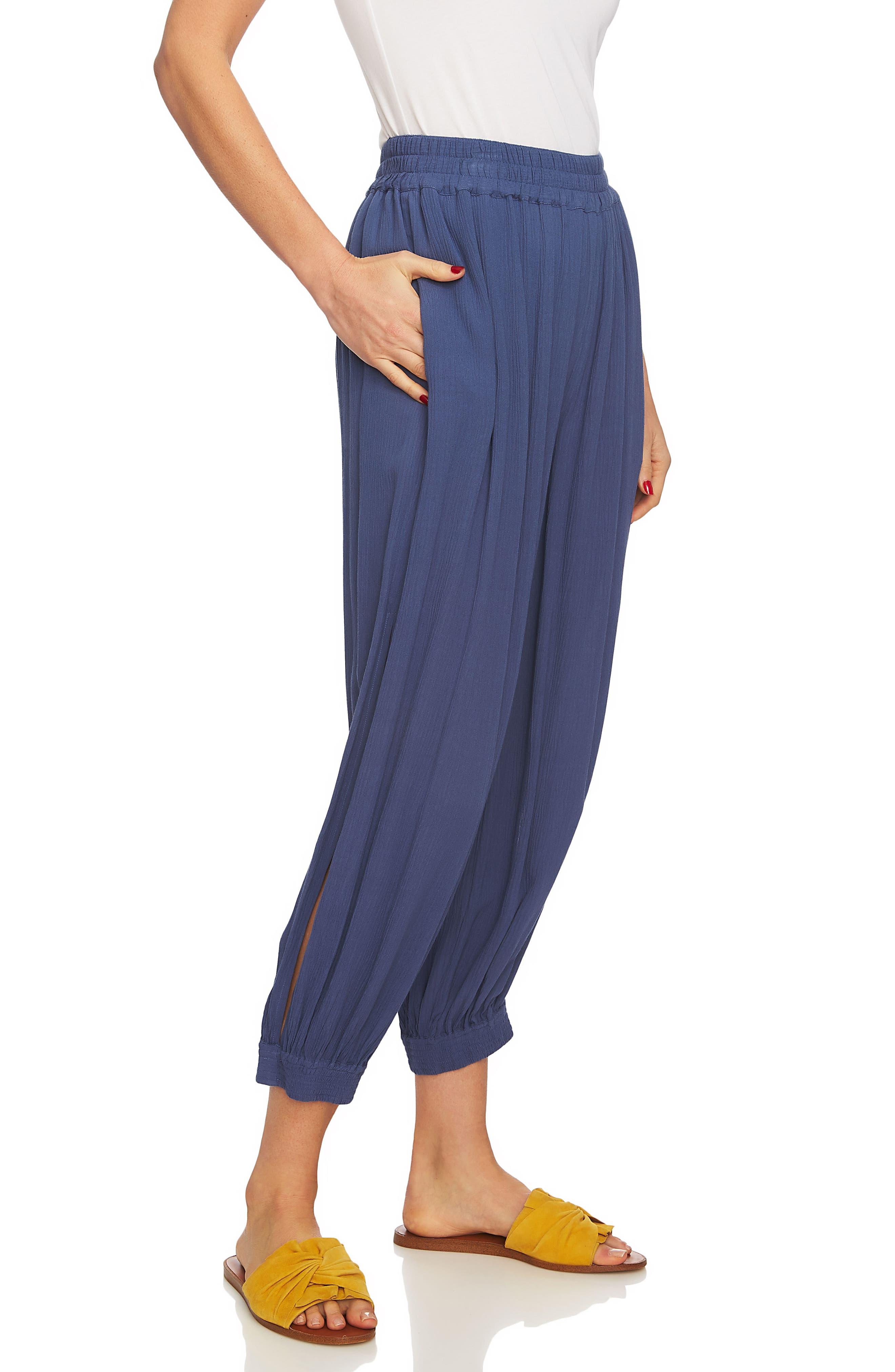 Smocked Cuff Harem Pants,                         Main,                         color, Moon Shade
