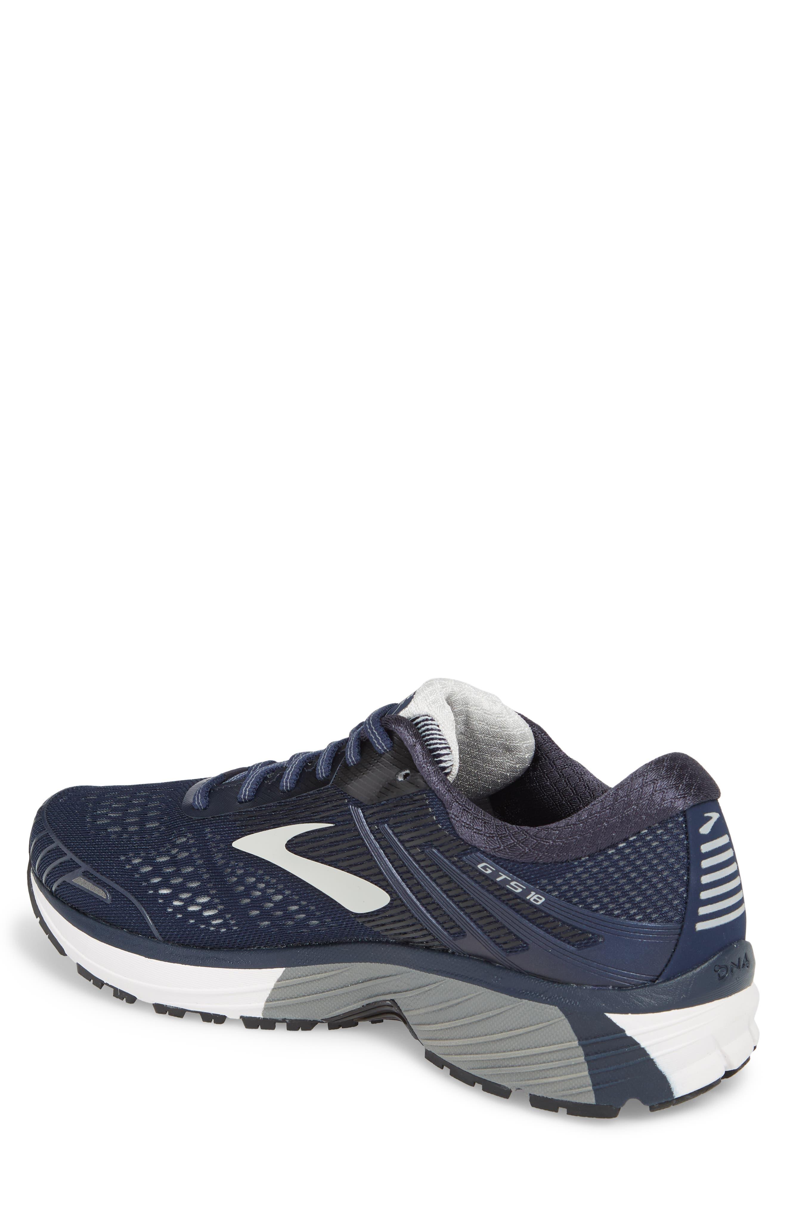 Adrenaline GTS 18 Running Shoe,                             Alternate thumbnail 2, color,                             Navy/ Grey/ Black