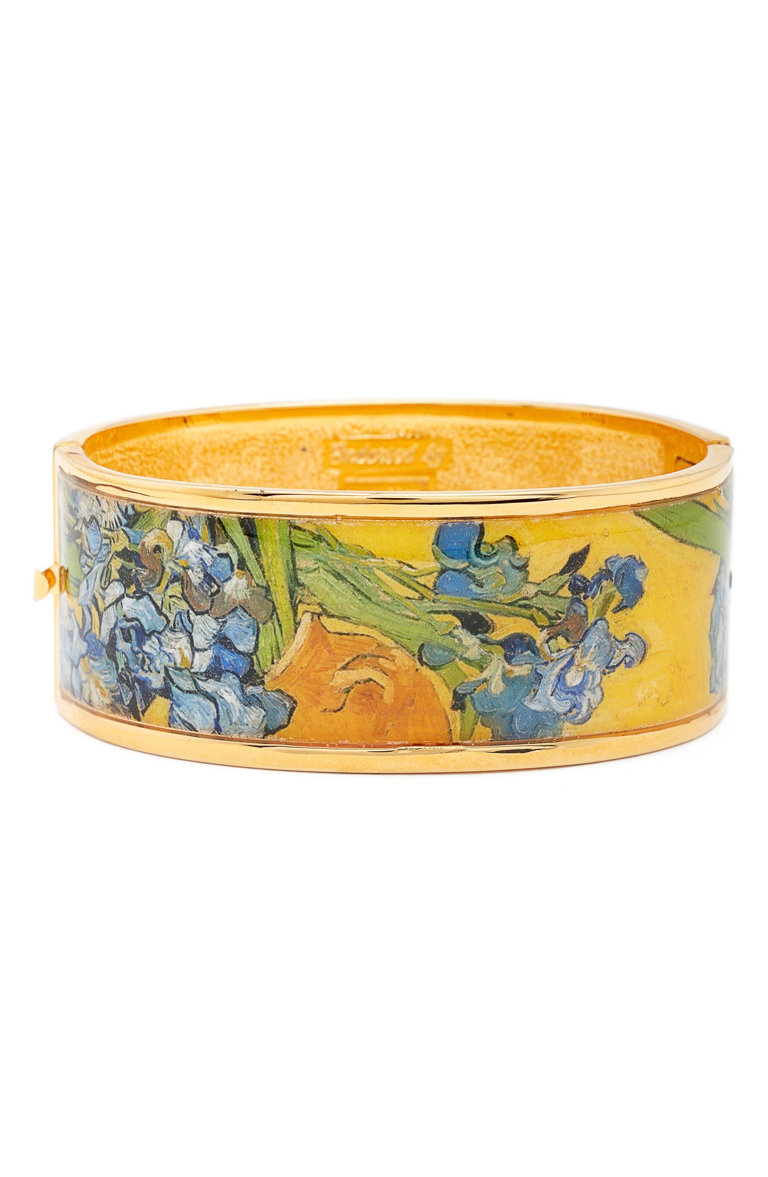 Irises Hinge Bracelet,                             Main thumbnail 1, color,                             Yellow/ Gold