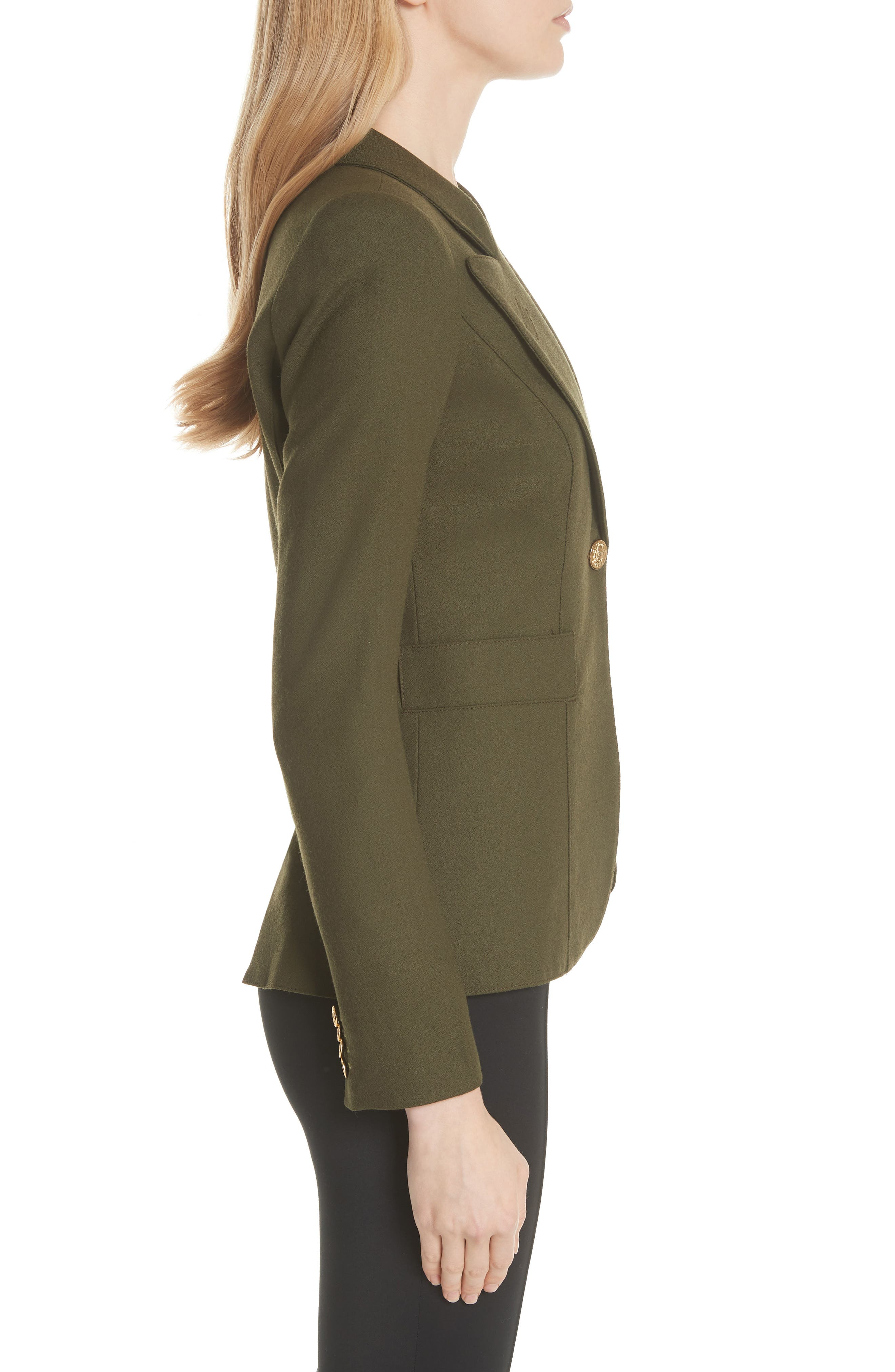 Classic Duchess Blazer,                             Alternate thumbnail 5, color,                             Army
