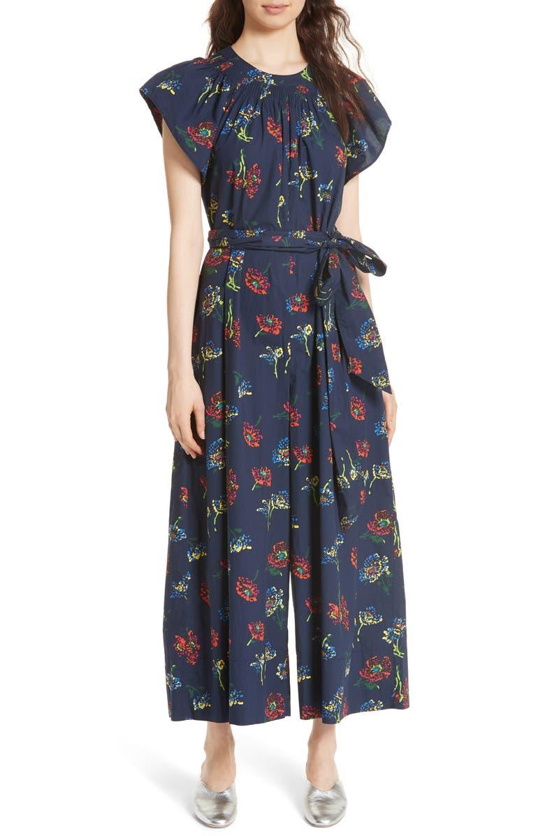 Coralie Floral Print Wide Leg Jumpsuit