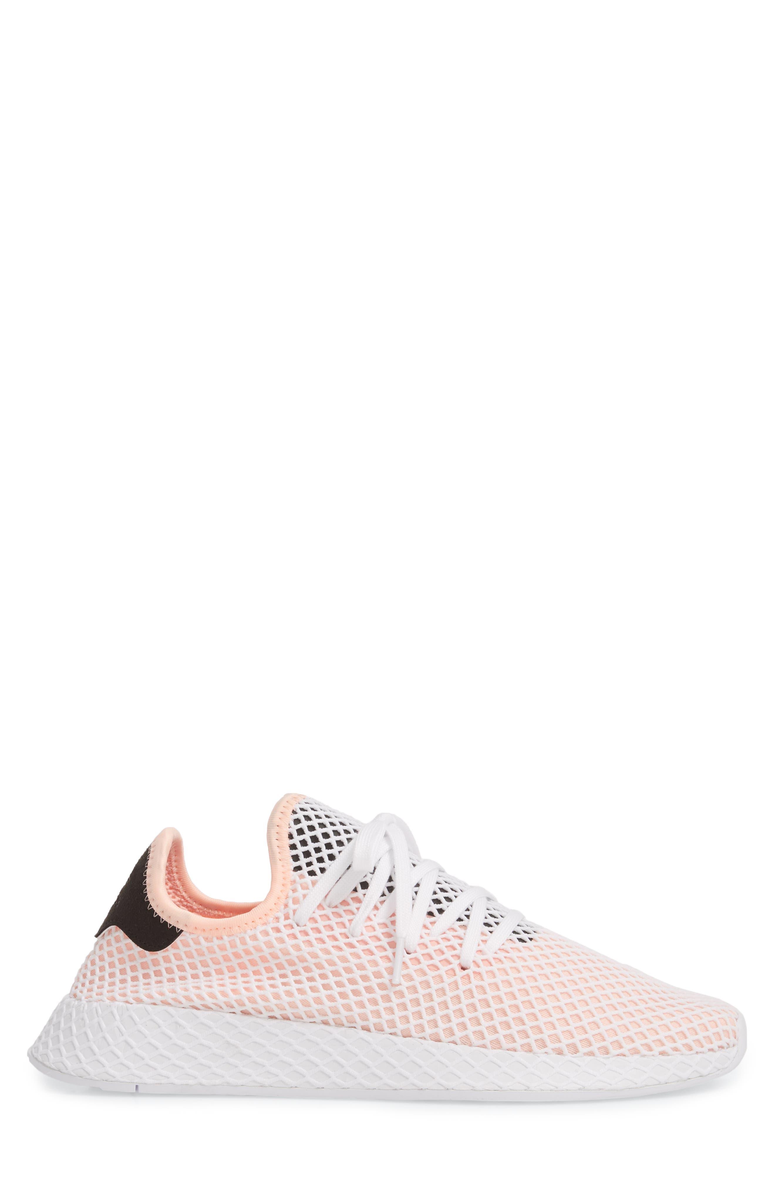 Deerupt Runner Sneaker,                             Alternate thumbnail 3, color,                             Black/ Black/ White