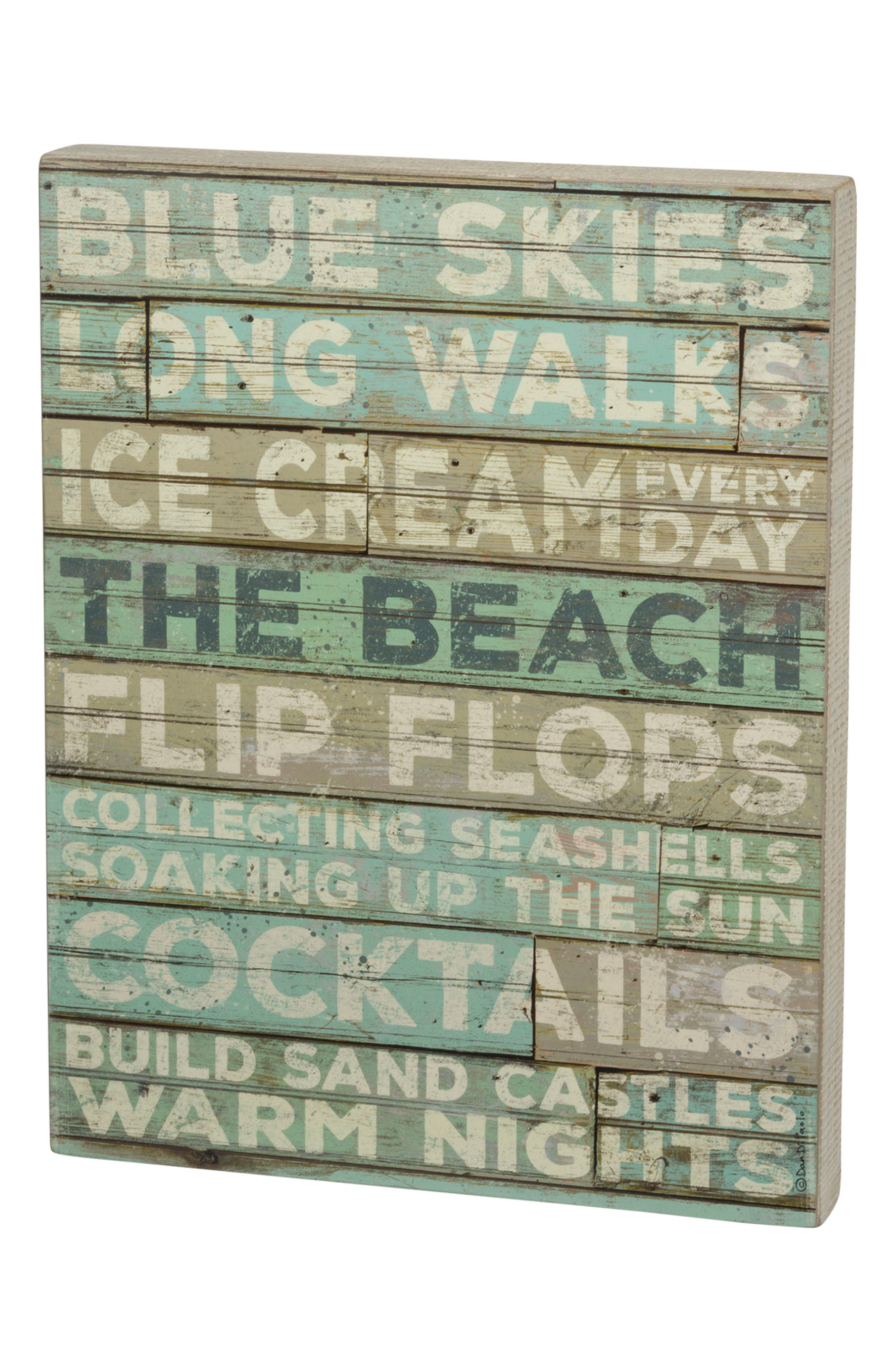 Primitives by Kathy Blue Skies Box Sign