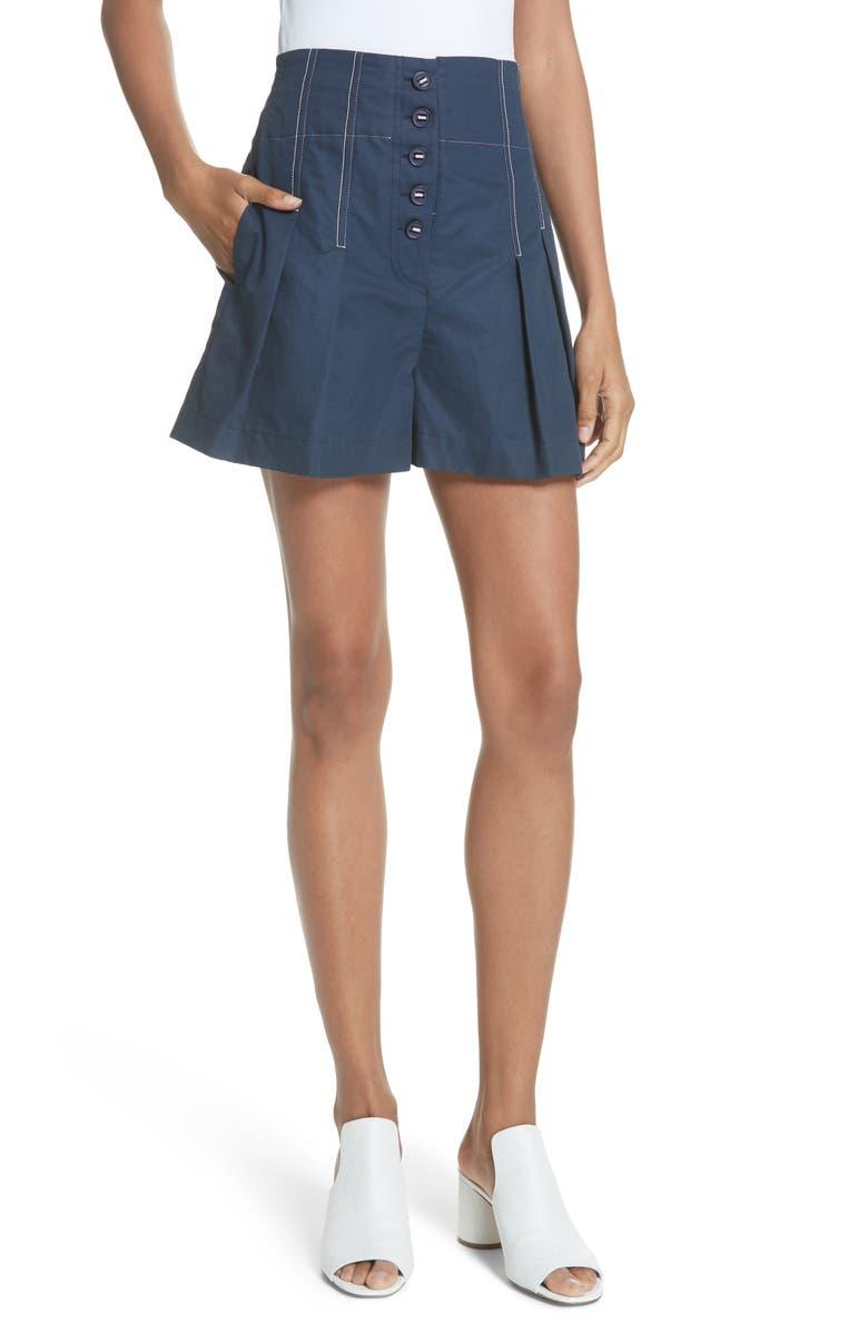 Topstitch Cotton Linen Shorts