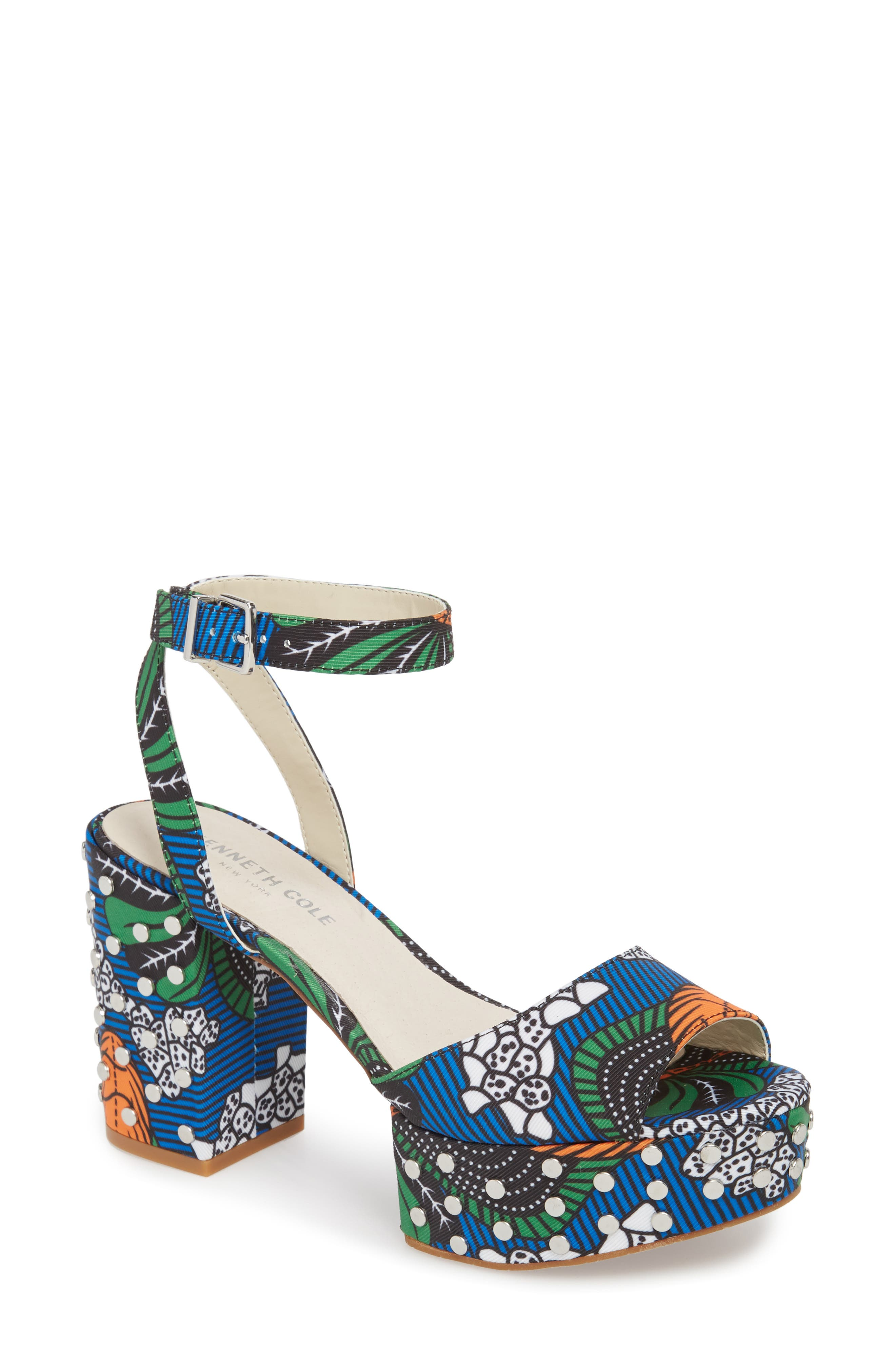 Kenneth Cole New York Phoenix Stud Platform Sandal (Women)