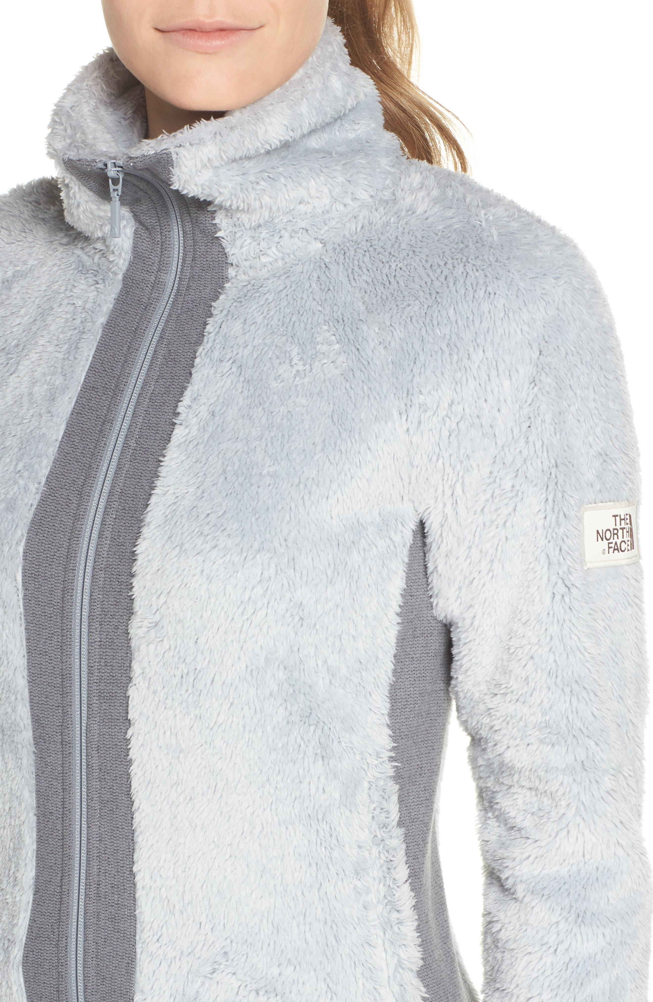 Furry Fleece Jacket,                             Alternate thumbnail 4, color,                             High Rise Grey