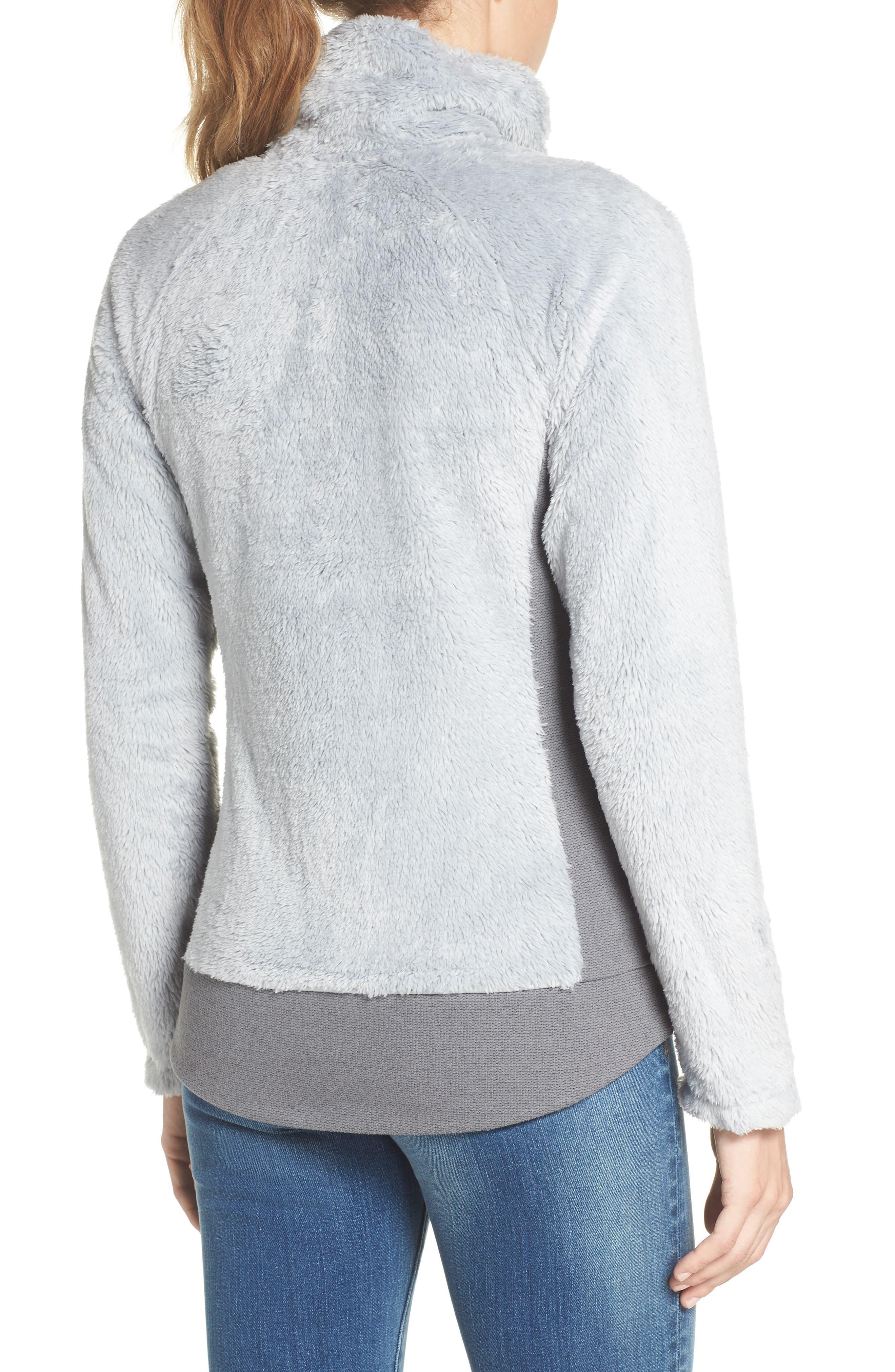 Furry Fleece Jacket,                             Alternate thumbnail 2, color,                             High Rise Grey