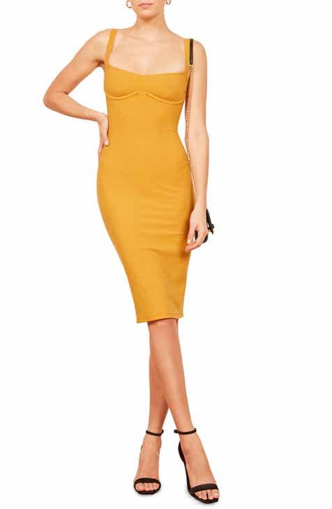 Reformation Jayne Bustier Body-Con Dress Best Reviews