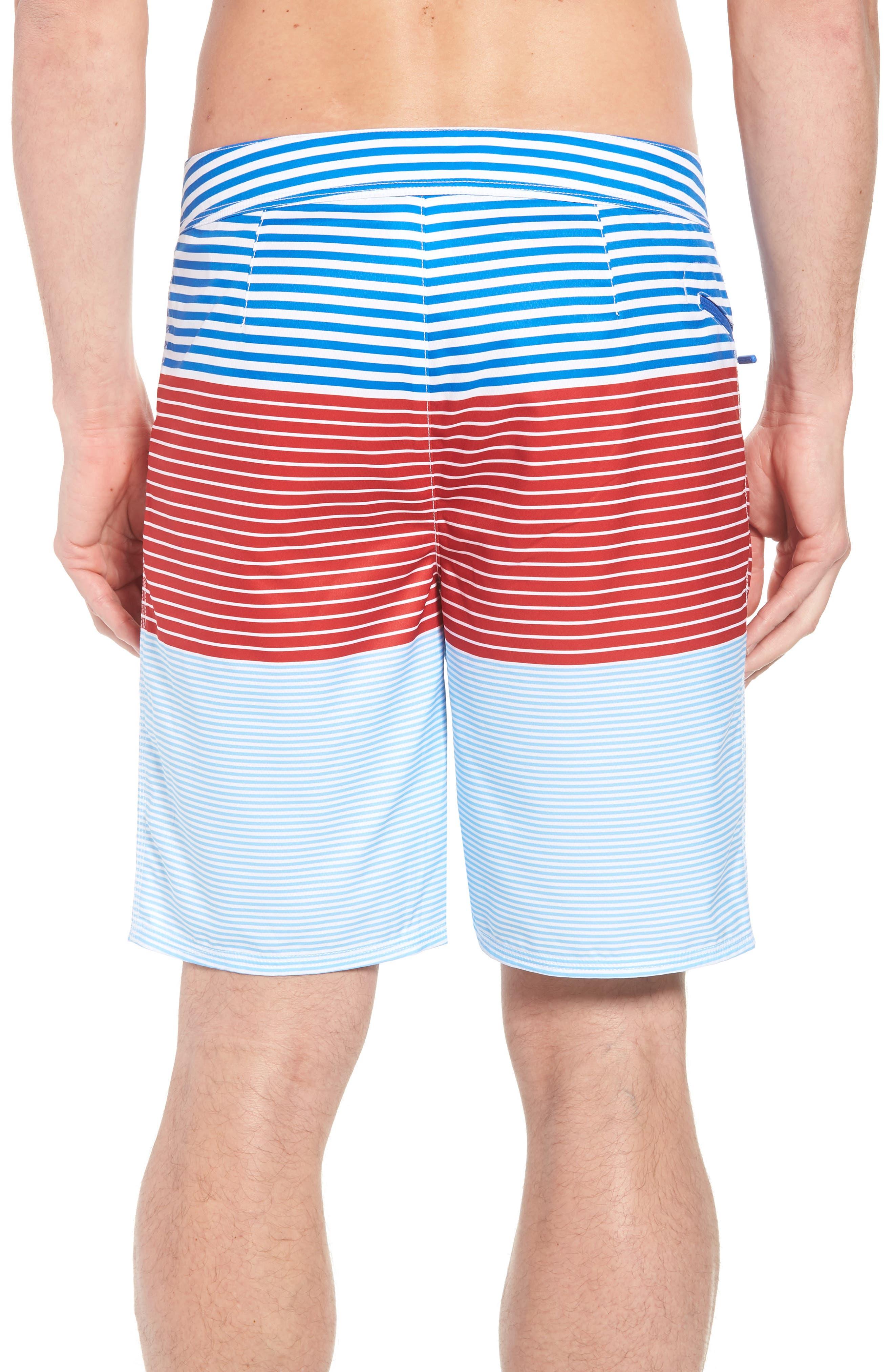 Whale Harbor Stripe Board Shorts,                             Alternate thumbnail 2, color,                             Spinnaker