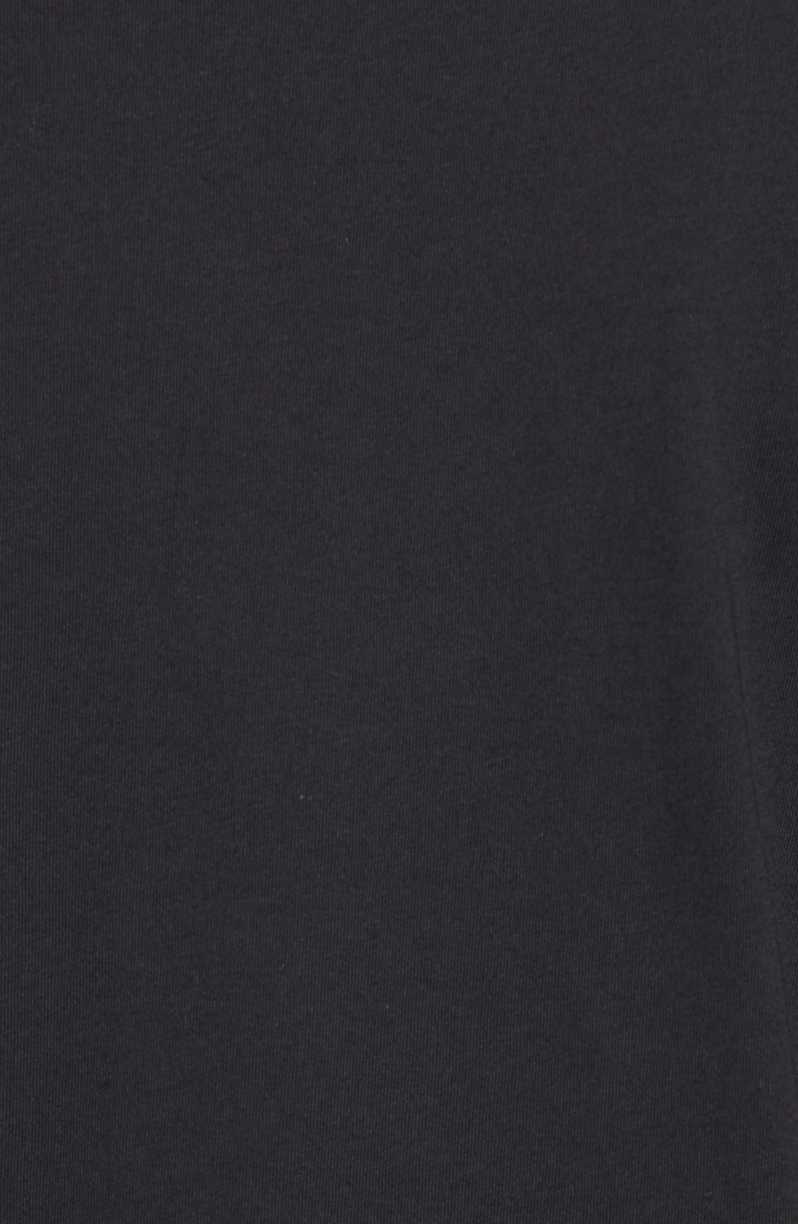 Iconic Jumpman Graphic T-Shirt,                             Alternate thumbnail 5, color,                             Black/ White