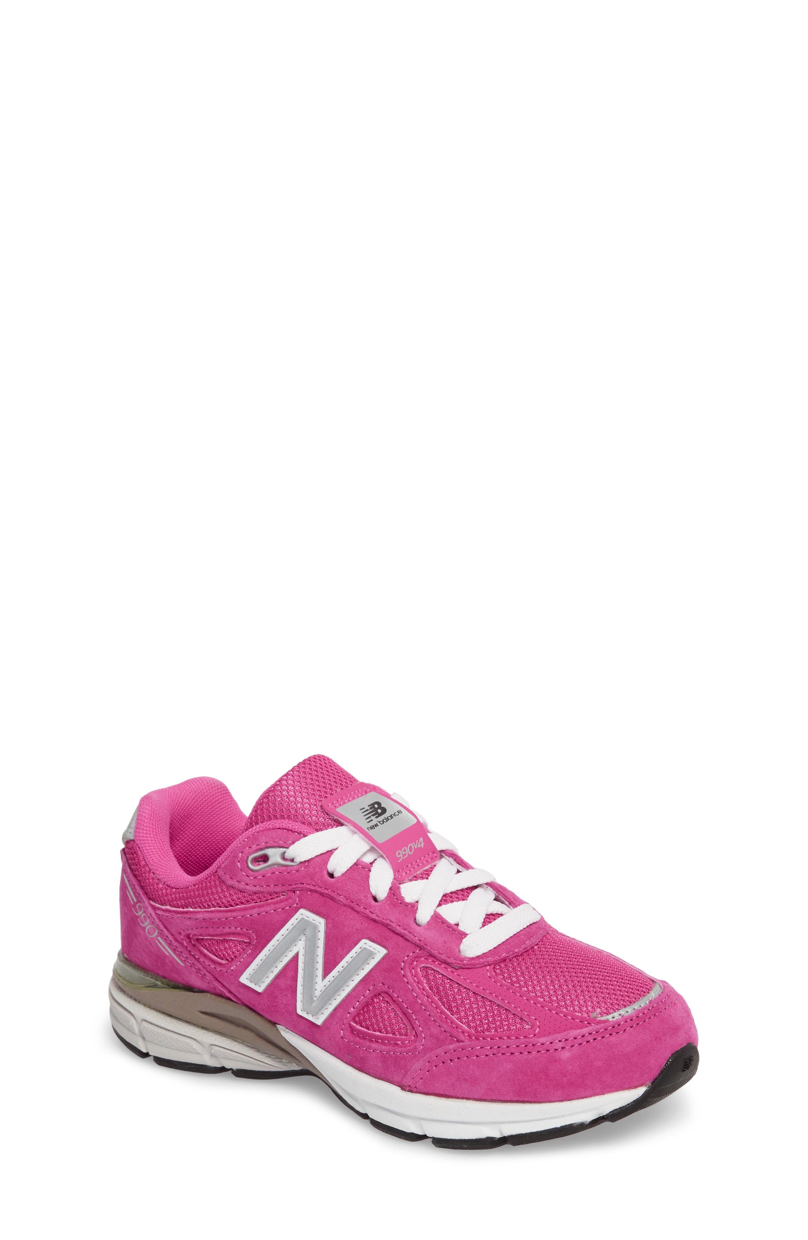 990v4 Sneaker,                             Main thumbnail 1, color,                             Pink