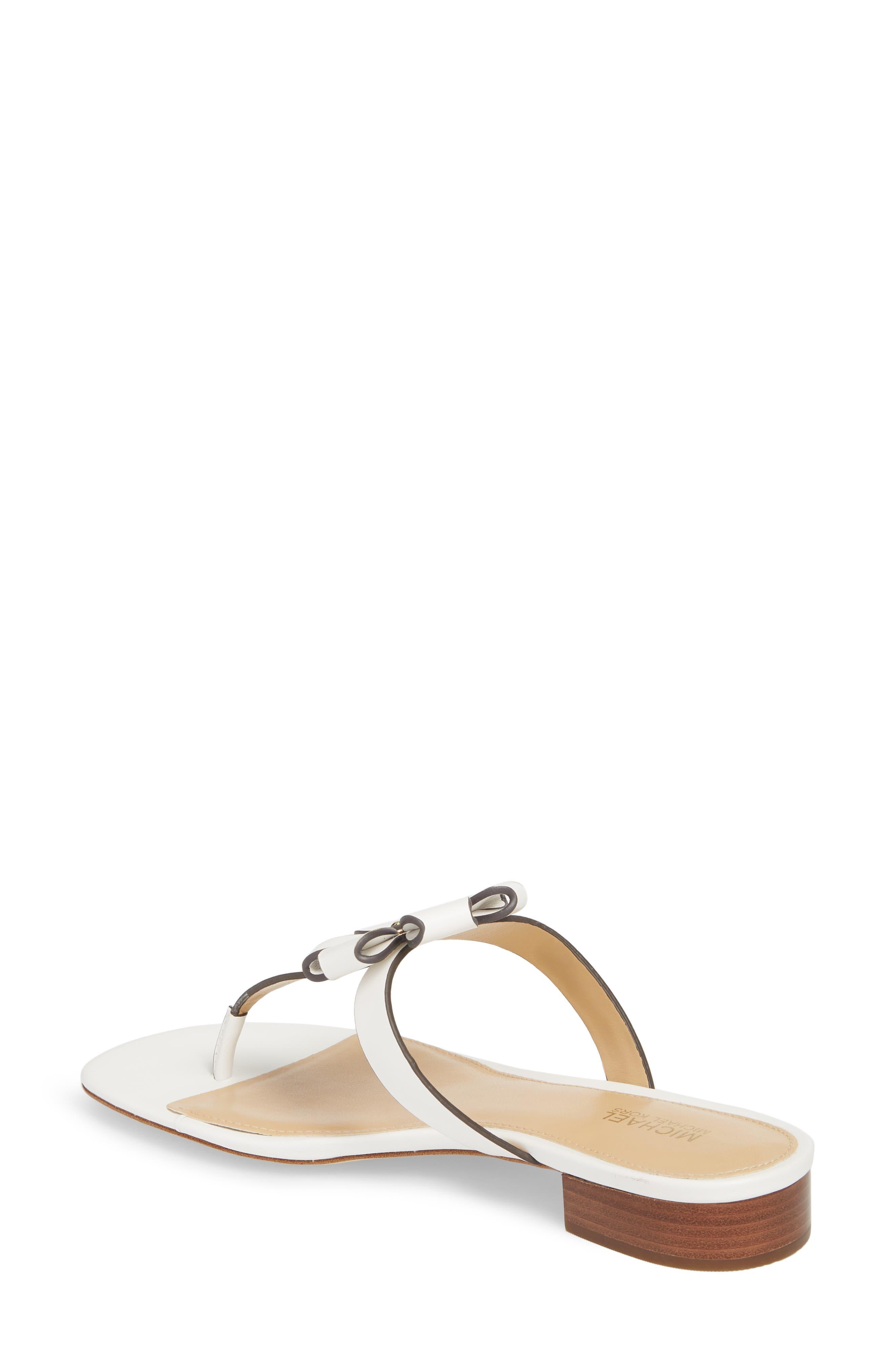 Tara Flip Flop,                             Alternate thumbnail 2, color,                             Optic White Leather
