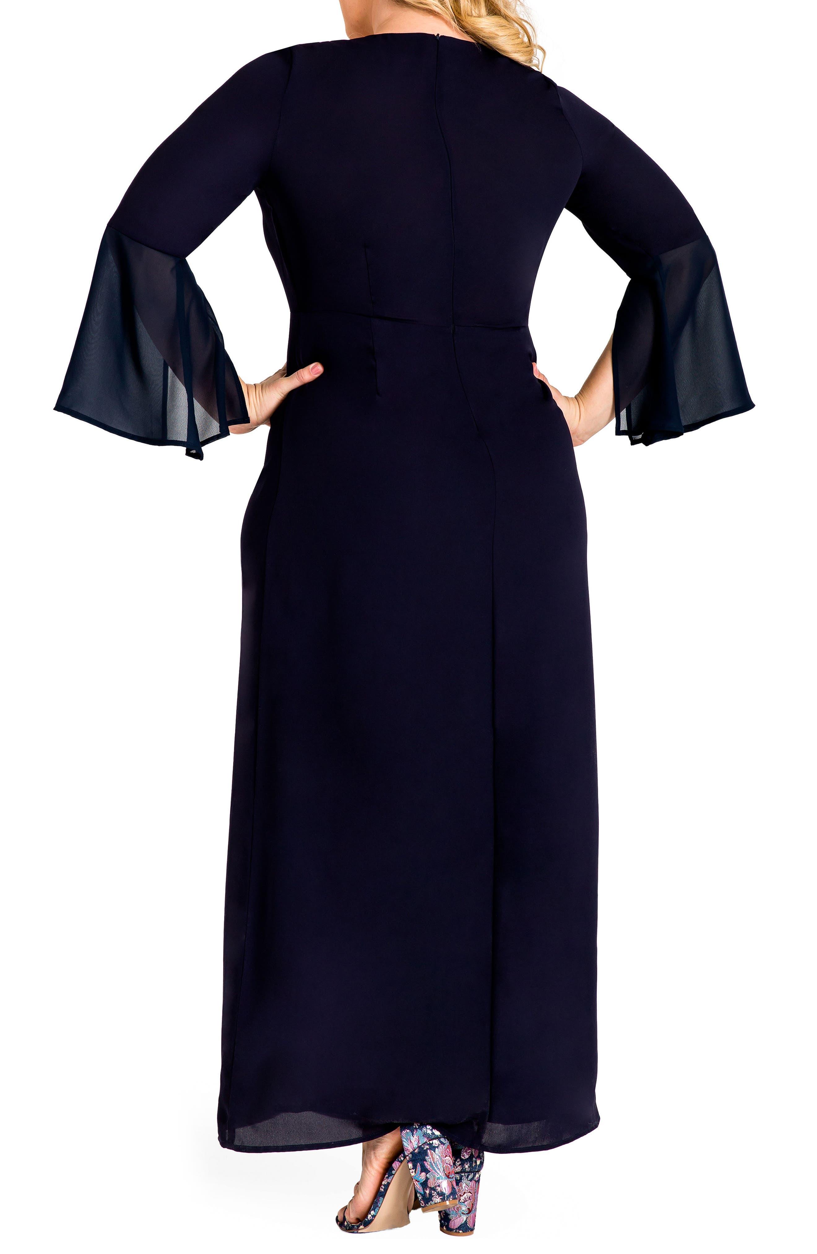 Norah Maxi Dress,                             Alternate thumbnail 2, color,                             Navy