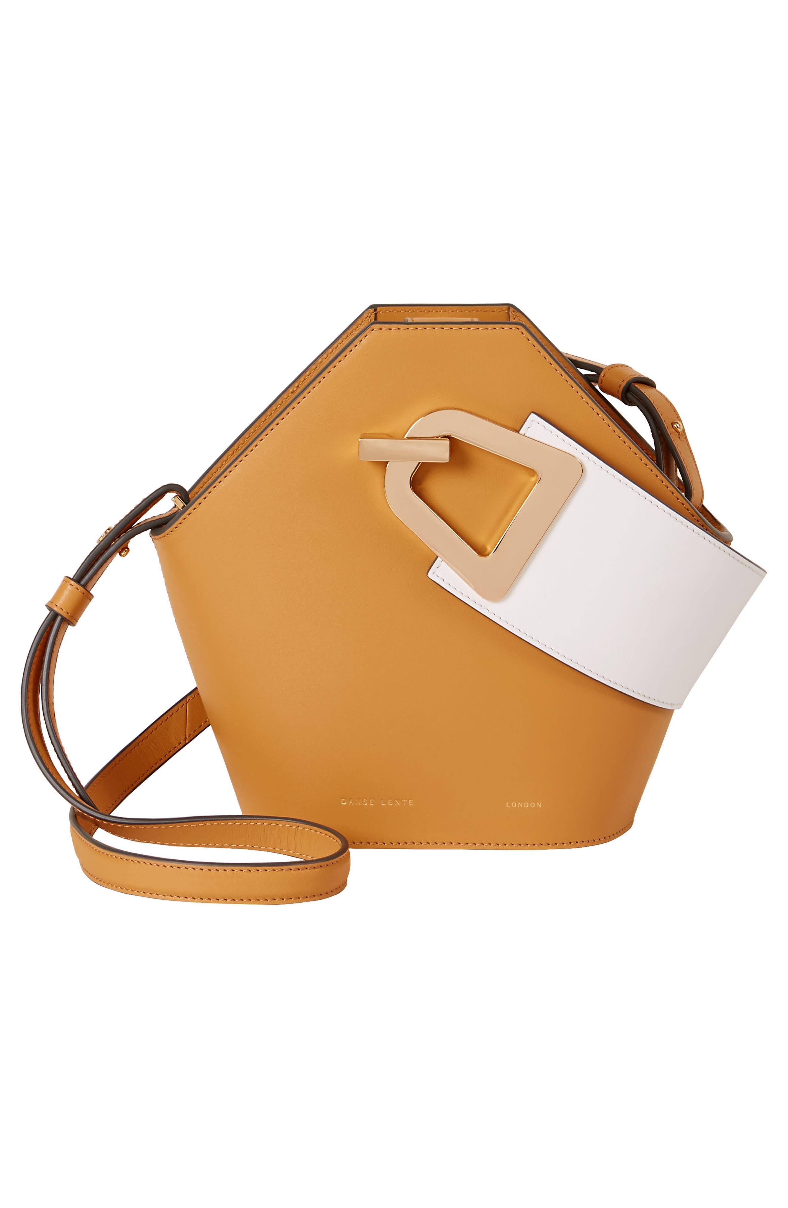 Mini Johnny Leather Bucket Bag,                             Alternate thumbnail 2, color,                             Sand