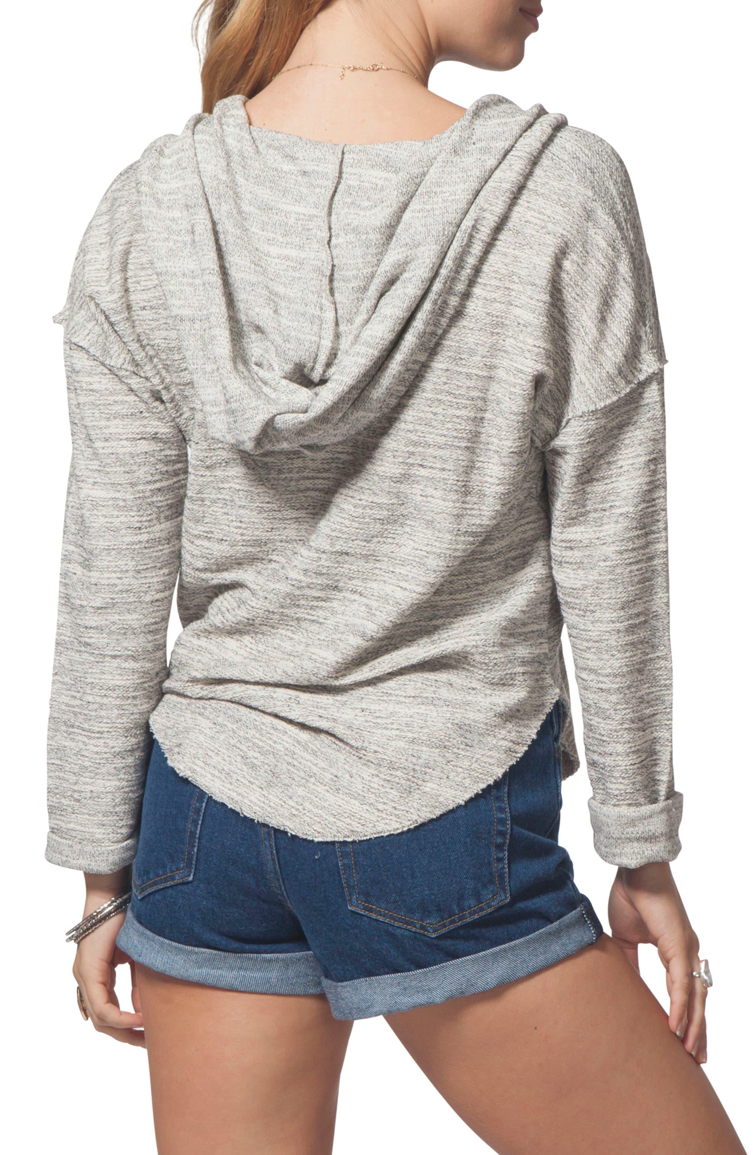 Drift Pullover Hoodie,                             Alternate thumbnail 2, color,                             Black/ White