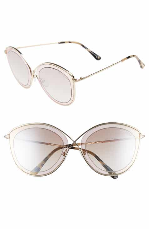 952e4ecbd25 Tom Ford Sascha 55mm Butterfly Sunglasses