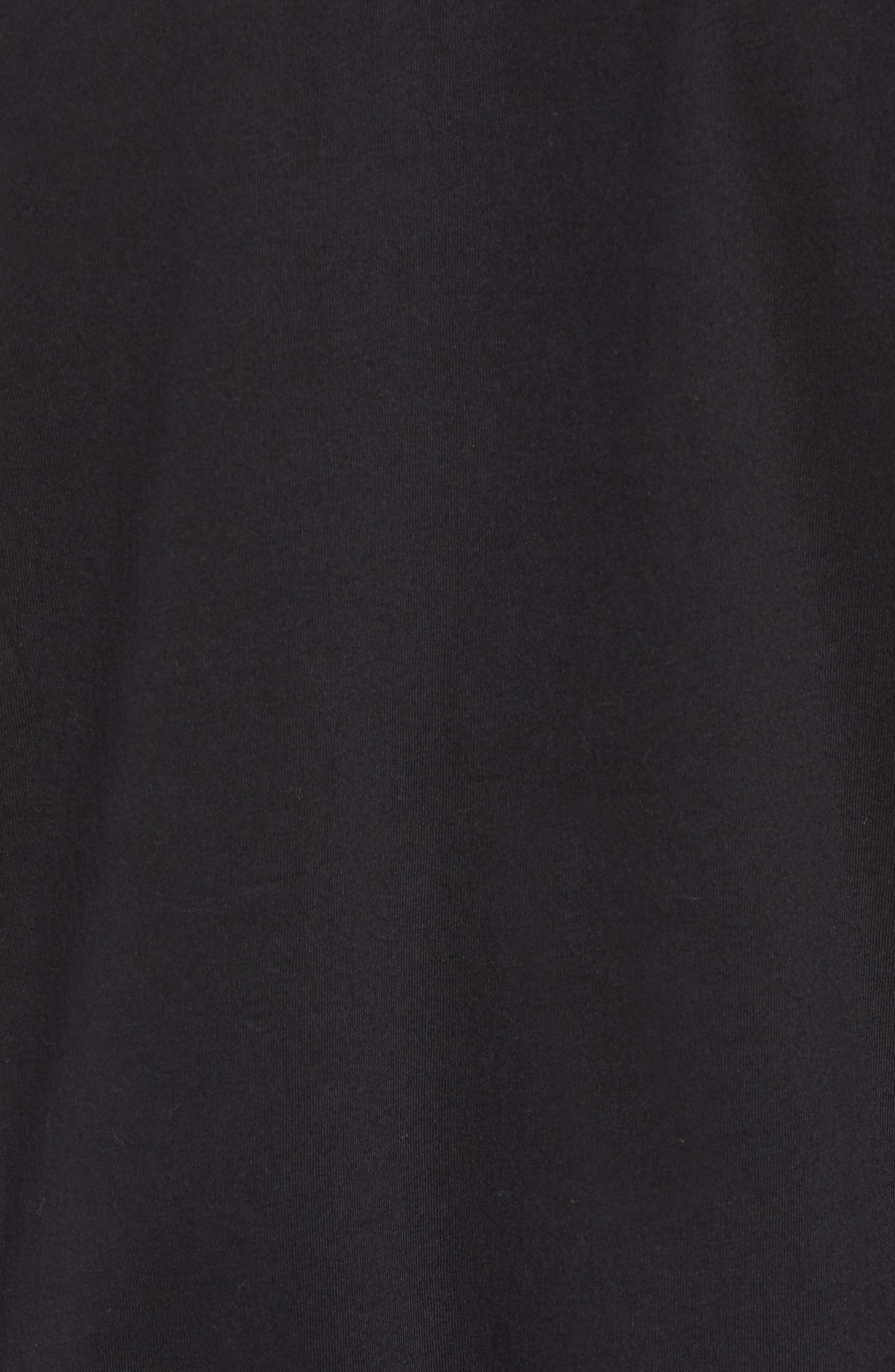 Solid Raglan T-Shirt,                             Alternate thumbnail 5, color,                             True Black