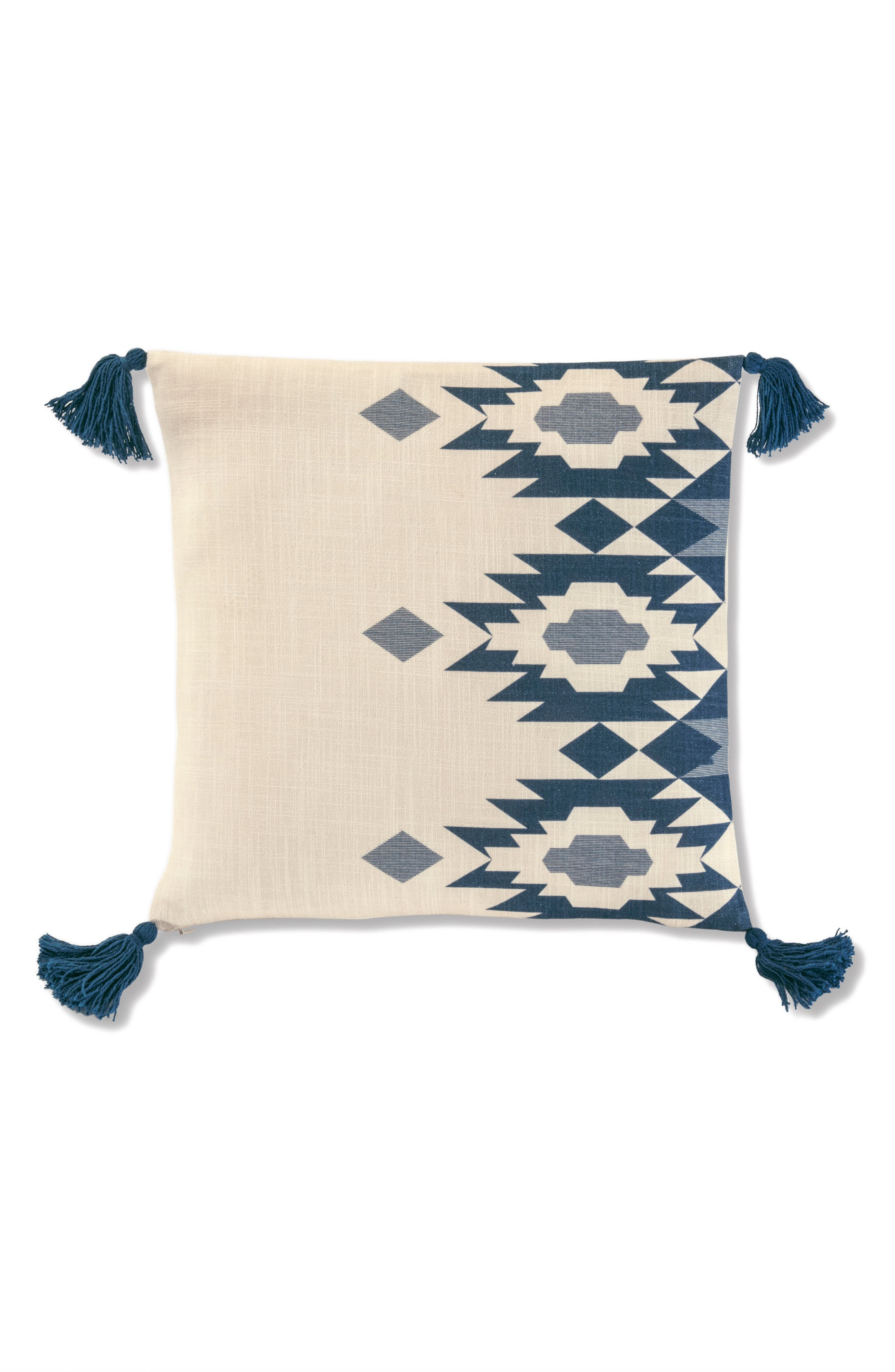 Yuma Star Printed Engineered Accent Pillow,                         Main,                         color, Blue