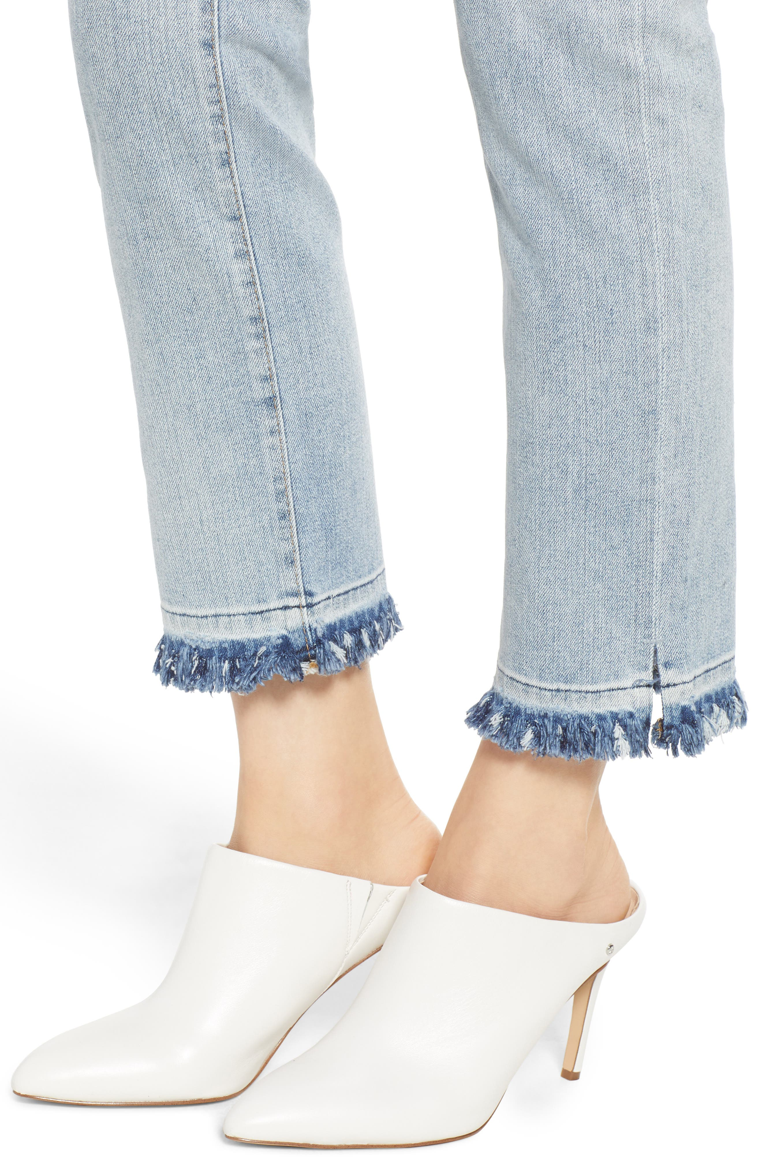 The Isabelle High Waist Crop Straight Leg Jeans,                             Alternate thumbnail 4, color,                             21 Years-Reflection