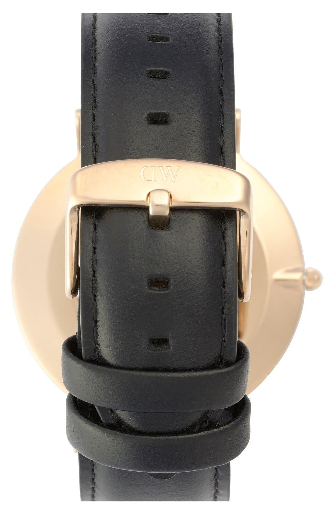 Alternate Image 2  - Daniel Wellington 'Classic Sheffield' Leather Strap Watch, 40mm