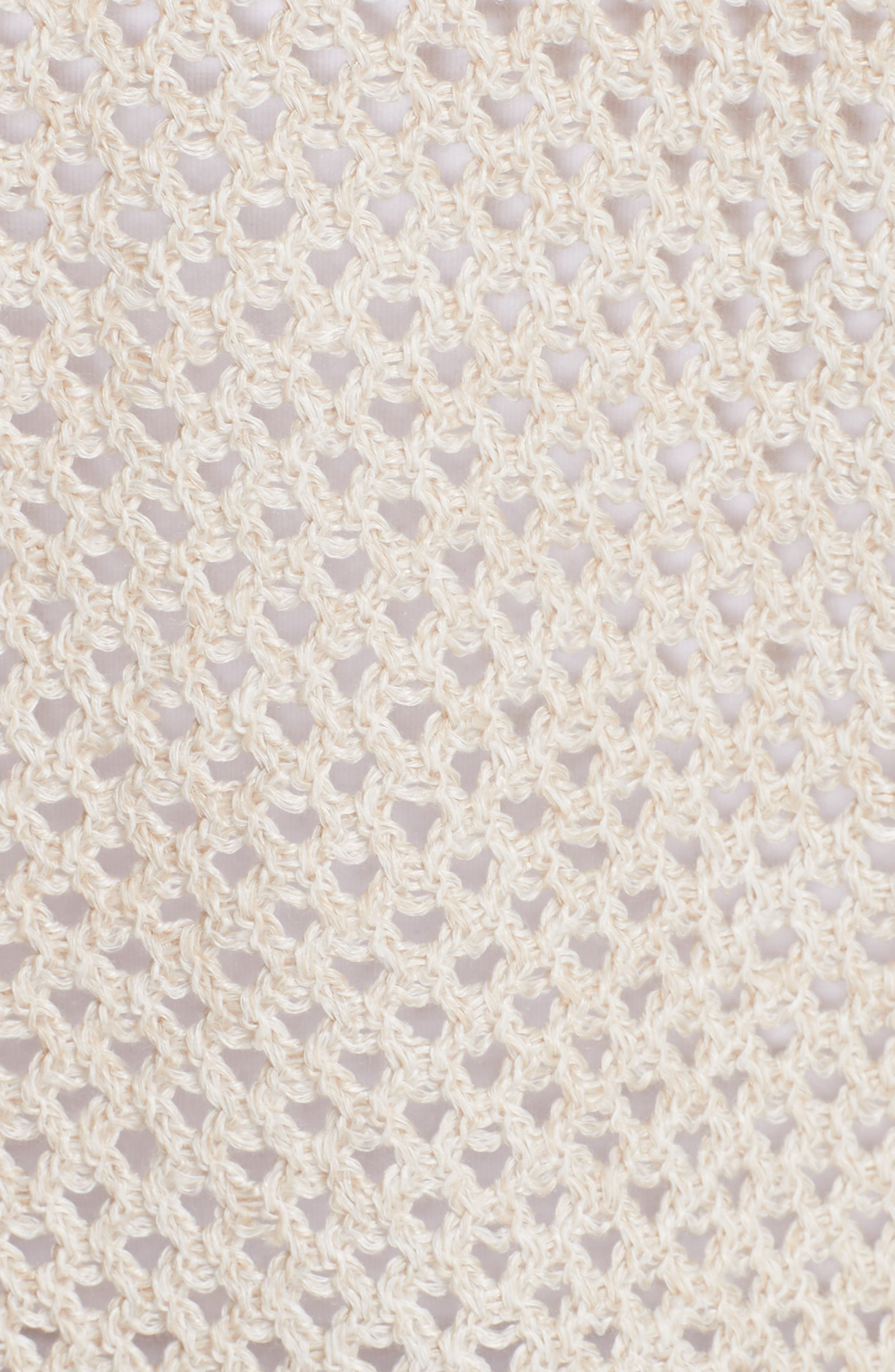 Tamvi M New Harbor Crop Cardigan,                             Alternate thumbnail 5, color,                             Ivory