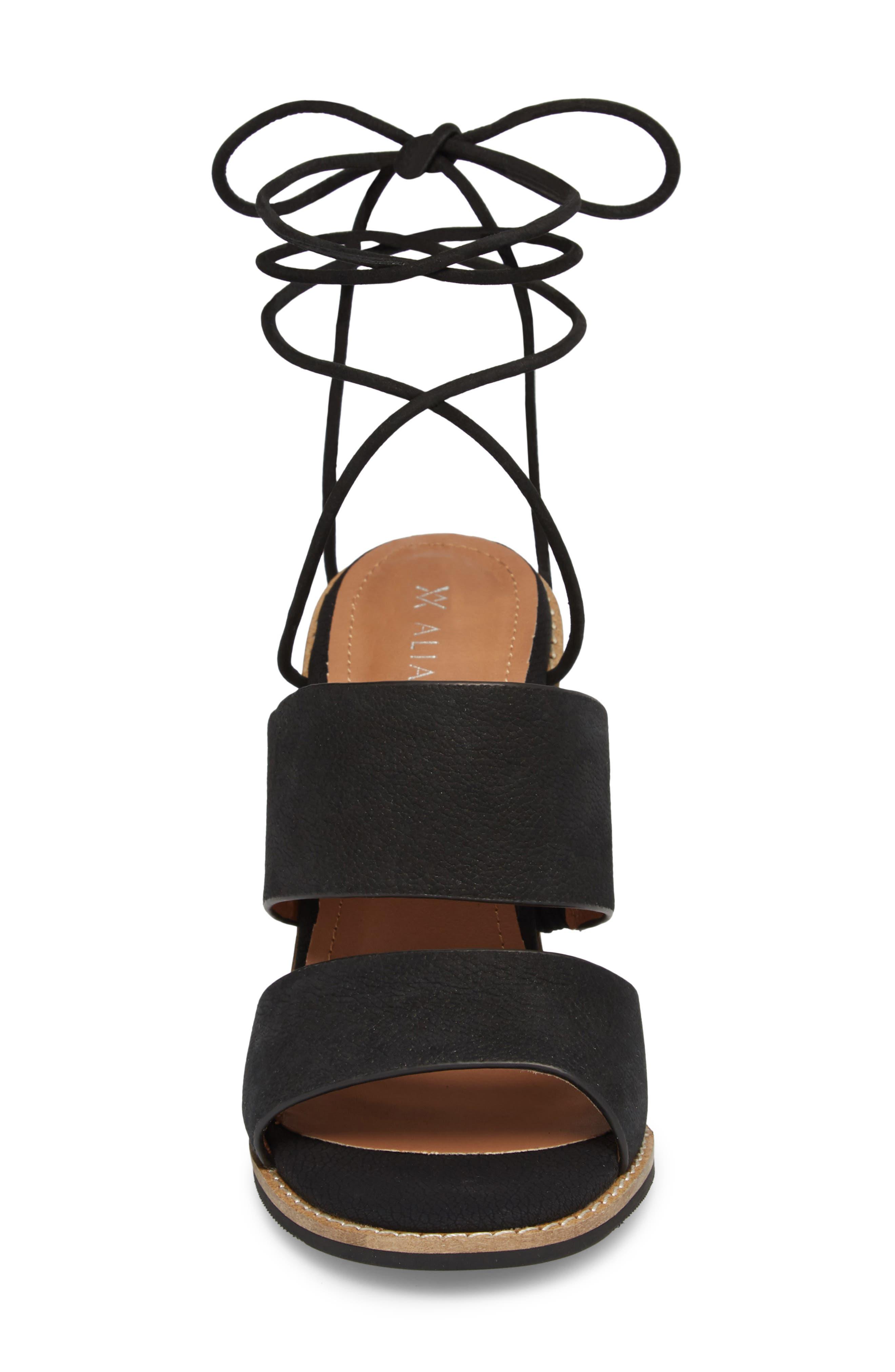 Cabrilla Sandal,                             Alternate thumbnail 4, color,                             Black Leather