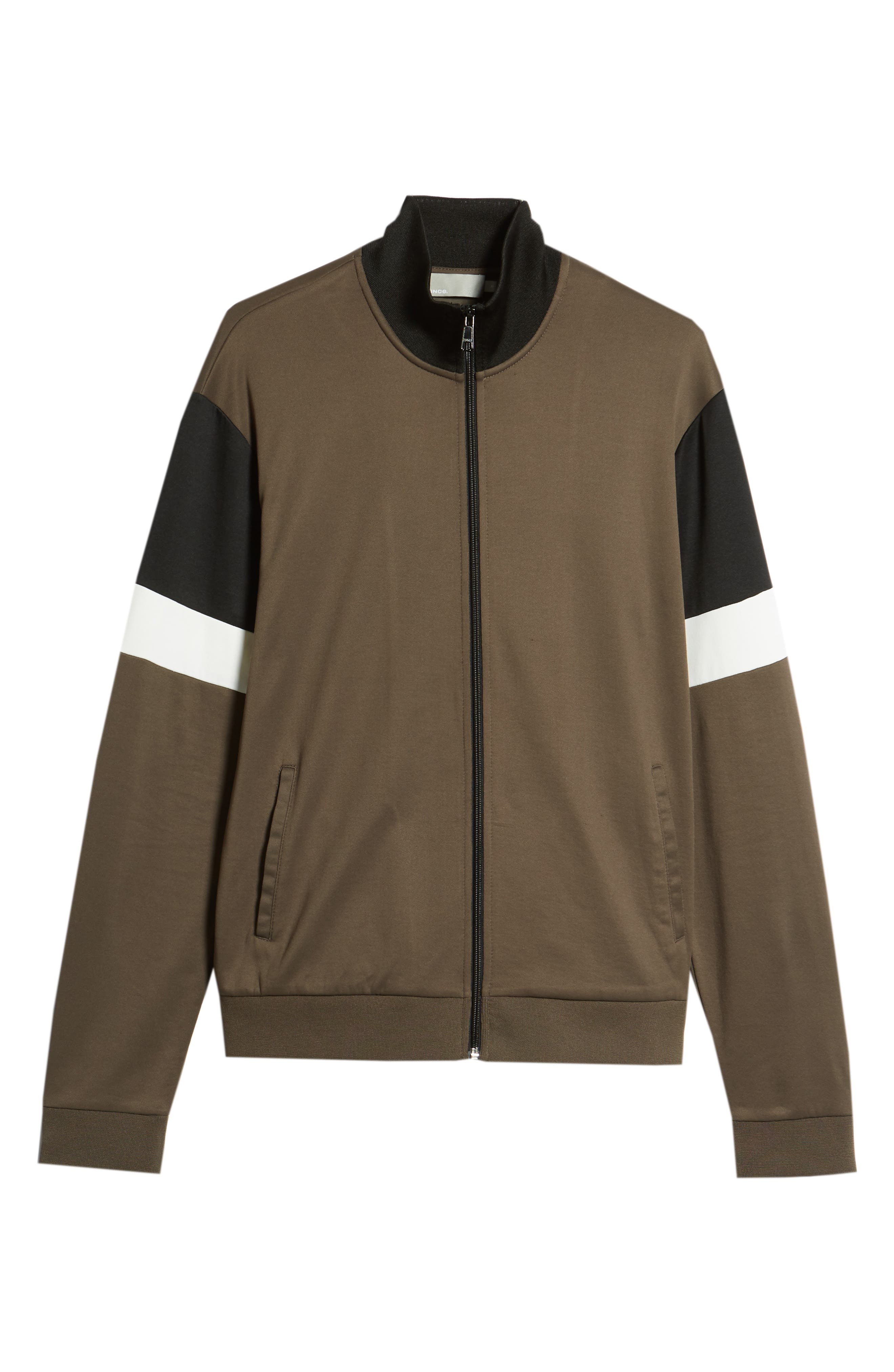 Colorblock Track Jacket,                             Alternate thumbnail 6, color,                             Dried Herb