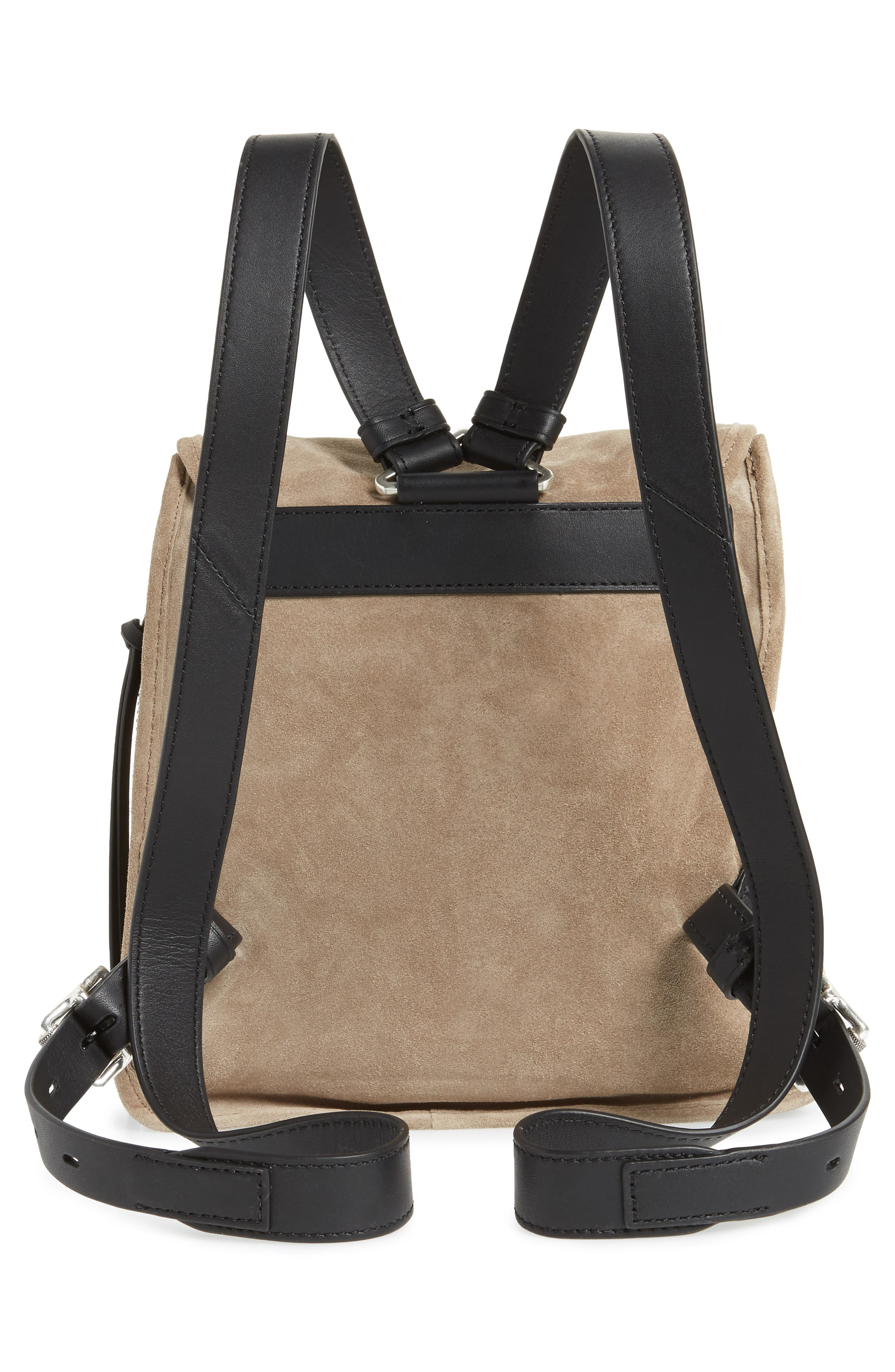 Small Suede Field Backpack,                             Alternate thumbnail 3, color,                             Warm Grey Suede