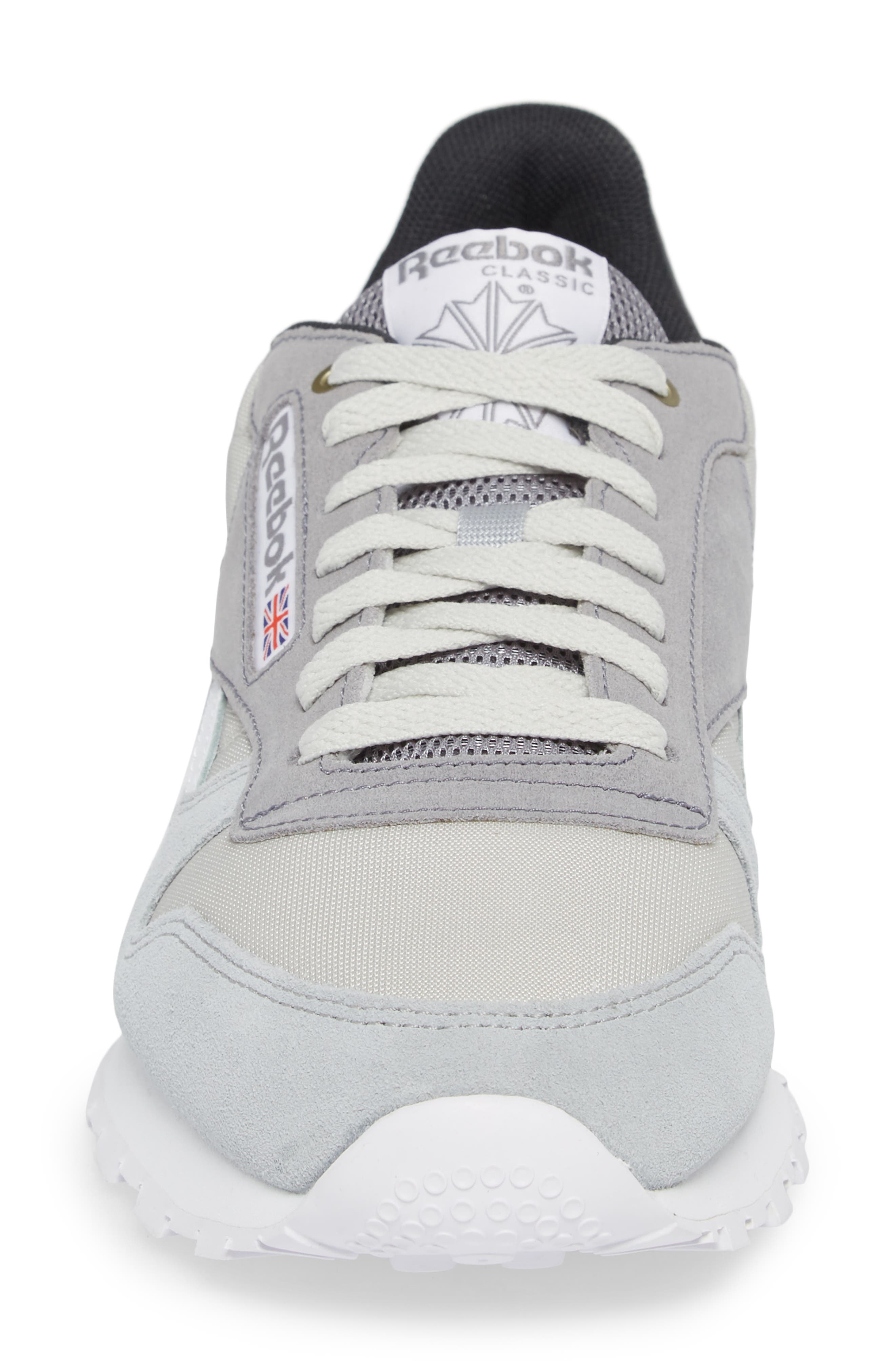 Classic Leather MCCS Sneaker,                             Alternate thumbnail 4, color,                             Grey/ White