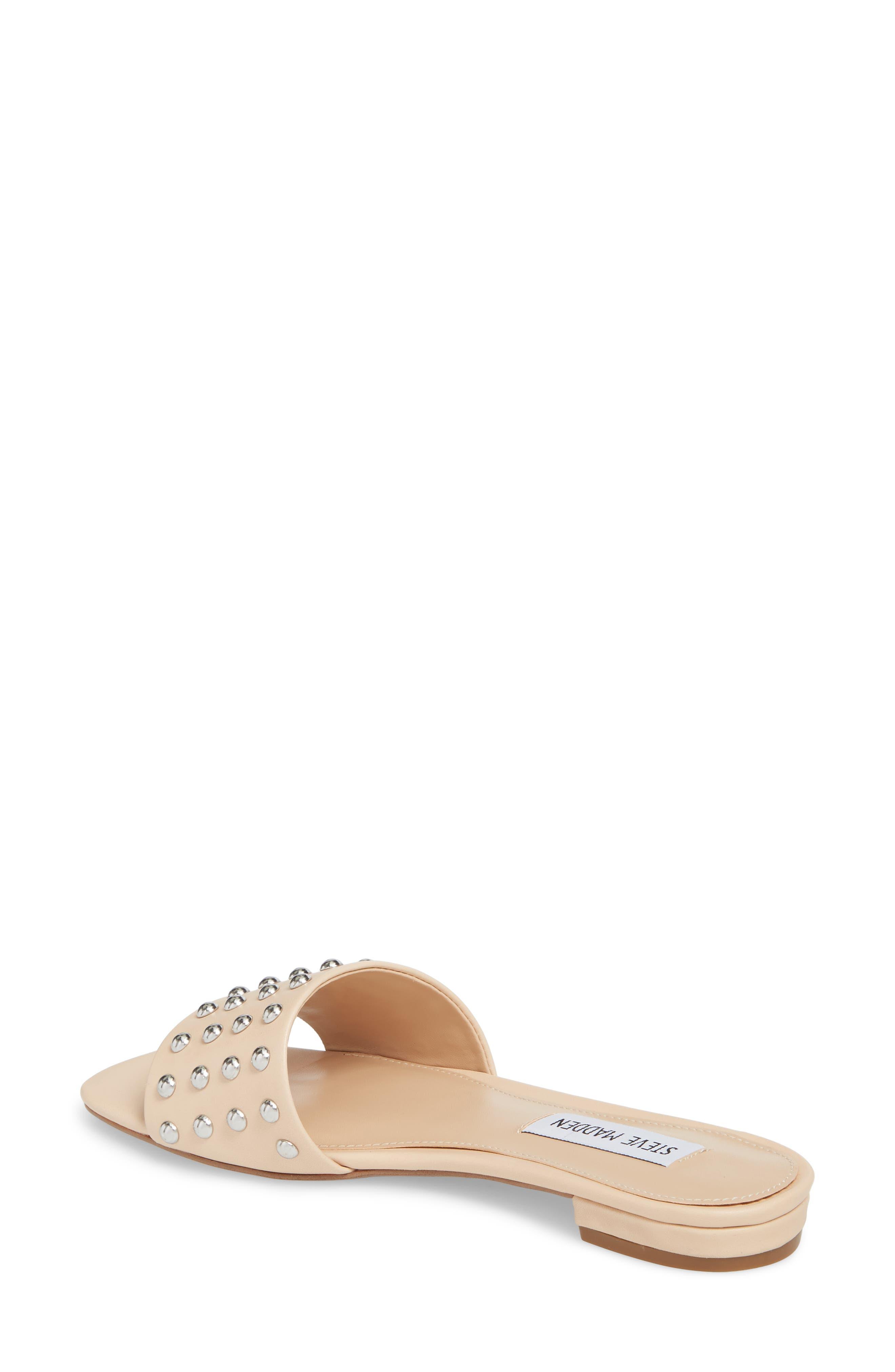 Viv Studded Slide Sandal,                             Alternate thumbnail 2, color,                             Blush Leather